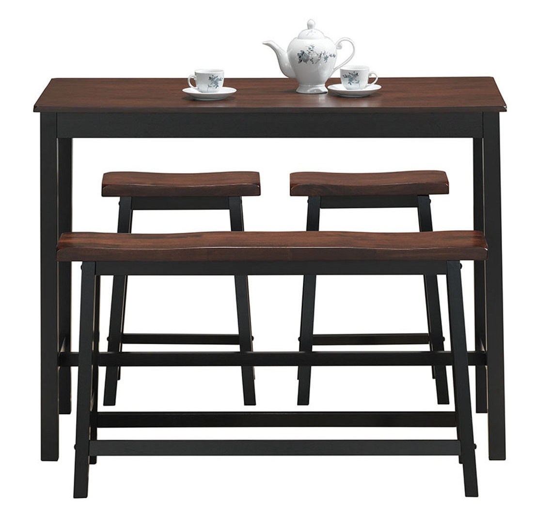 Castillo 4 Piece Breakfast Nook Dining Set Inside Most Recently Released Kerley 4 Piece Dining Sets (Image 4 of 20)