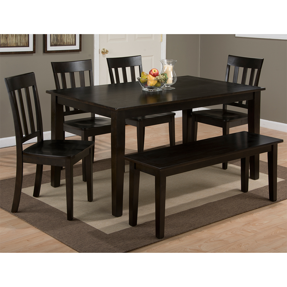 Casual Dining Room Tables & Chair Sets Pertaining To Most Popular Evellen 5 Piece Solid Wood Dining Sets (Set Of 5) (View 7 of 20)