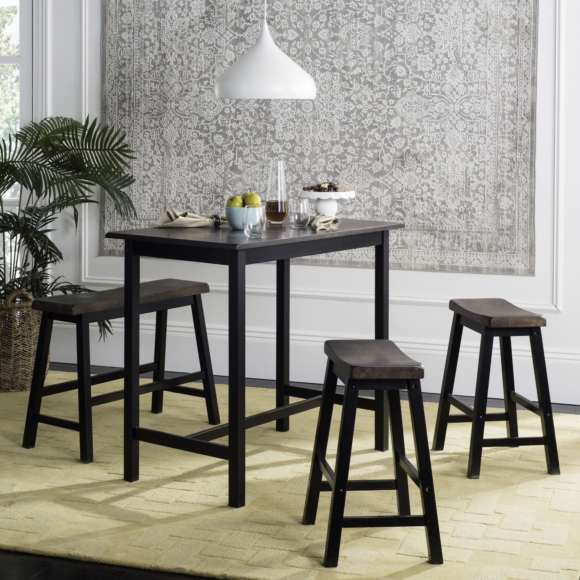 Chelsey 4 Piece Dining Set For Recent Sheetz 3 Piece Counter Height Dining Sets (View 18 of 20)