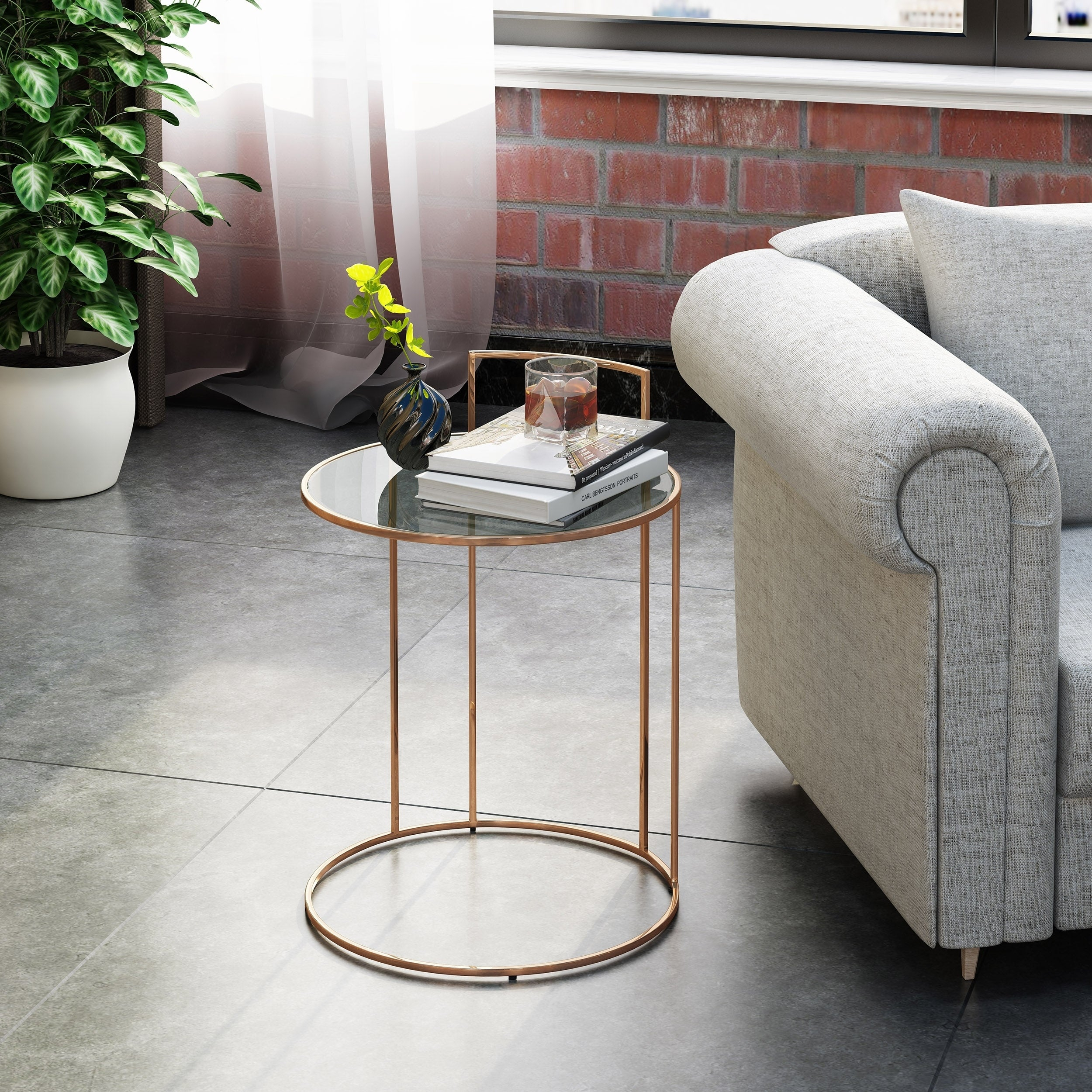 Christopher Knight Home Isolde Glam Tempered Glass Side Table Pertaining To Recent Isolde 3 Piece Dining Sets (Image 5 of 20)