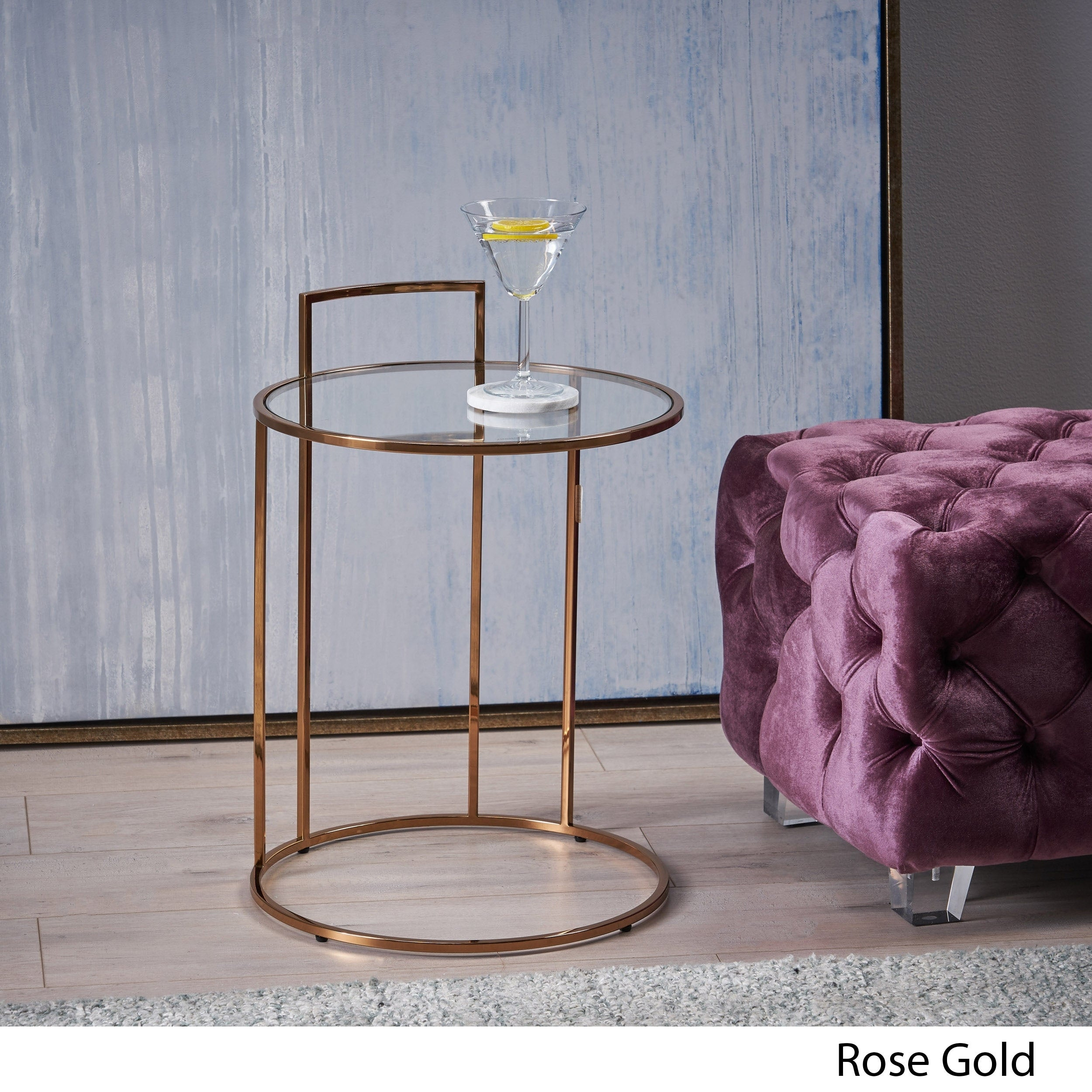 Christopher Knight Home Isolde Glam Tempered Glass Side Table With Latest Isolde 3 Piece Dining Sets (Photo 11 of 20)