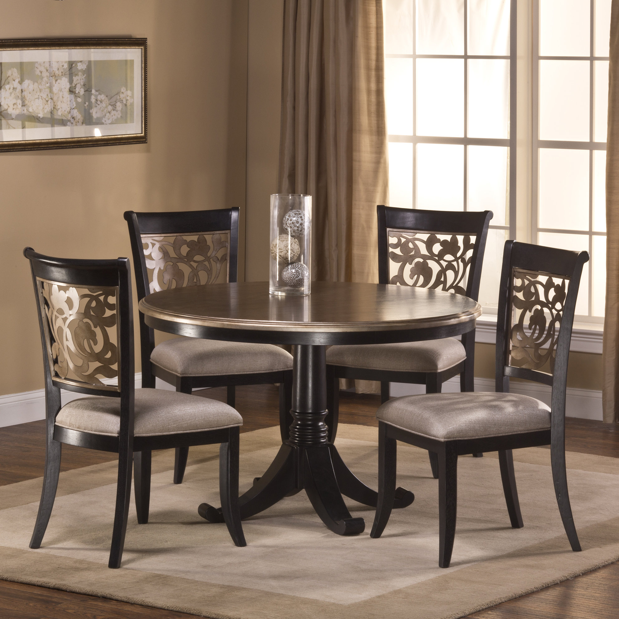 Chuckanut 5 Piece Solid Wood Dining Set With Most Up To Date Laconia 7 Pieces Solid Wood Dining Sets (Set Of 7) (View 9 of 20)
