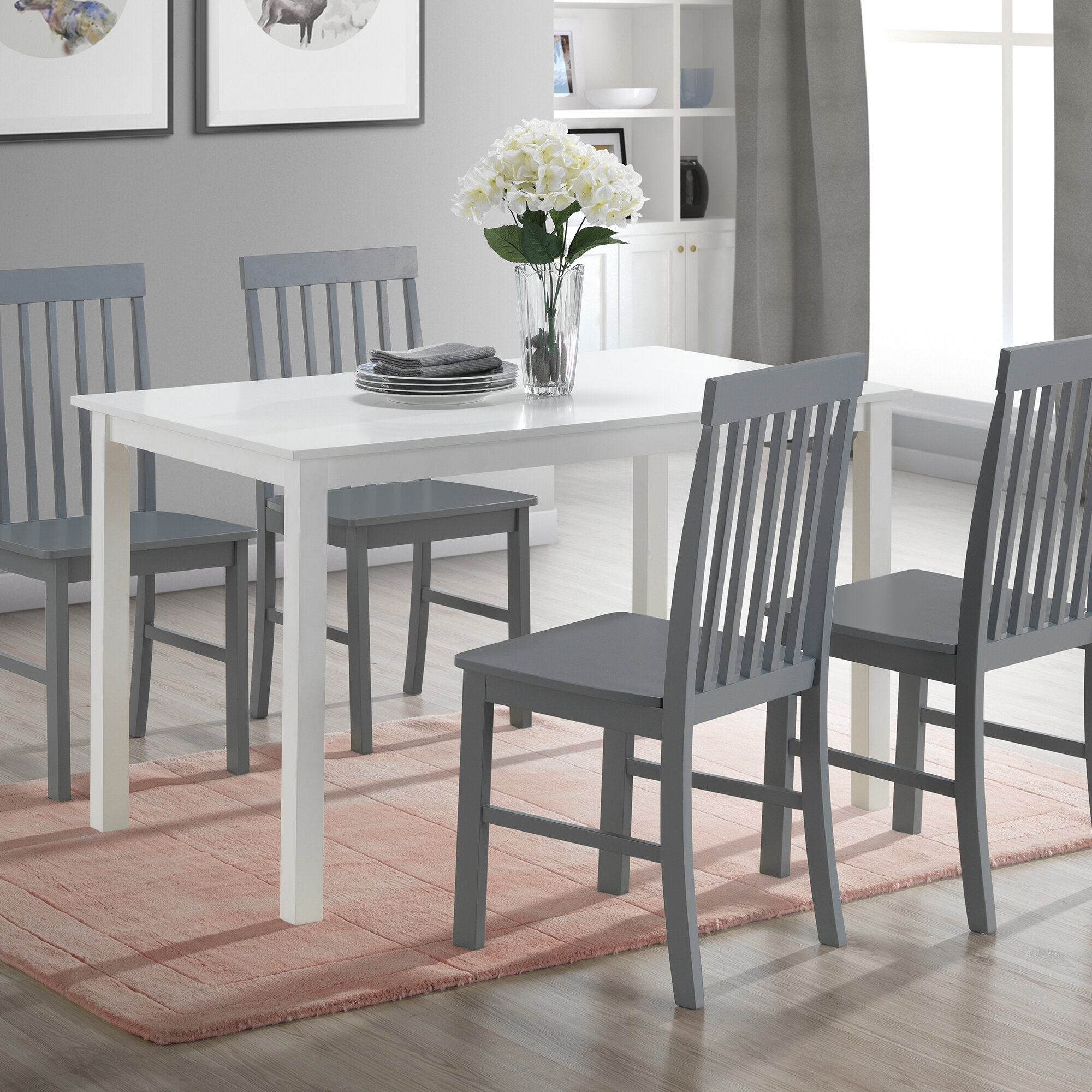 Cienna 5 Piece Dining Set Throughout Latest Bryson 5 Piece Dining Sets (Image 11 of 20)