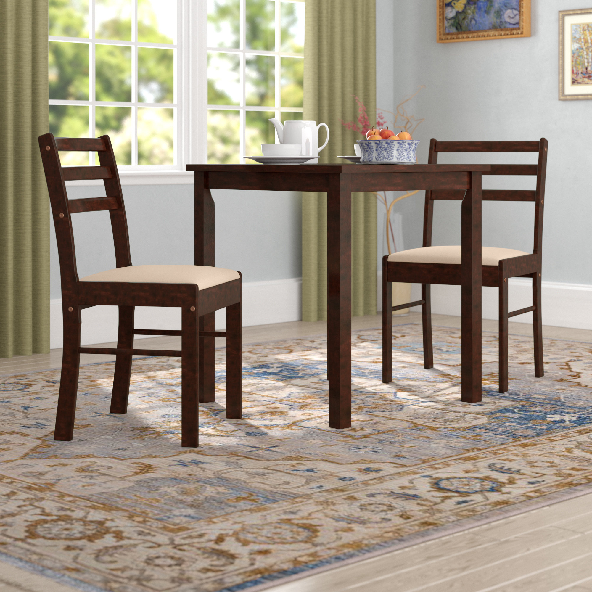 Clinger Pilaster Designs 3 Piece Dining Set Regarding Most Recently Released Kinsler 3 Piece Bistro Sets (Photo 10 of 20)