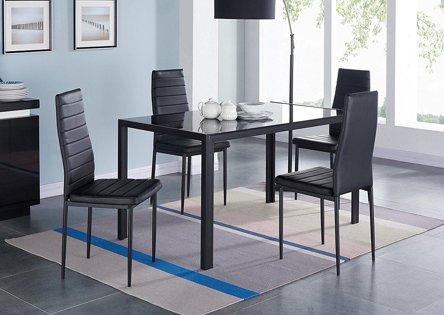 Compact 5 Piece Dining Set Throughout Newest Linette 5 Piece Dining Table Sets (Image 7 of 20)