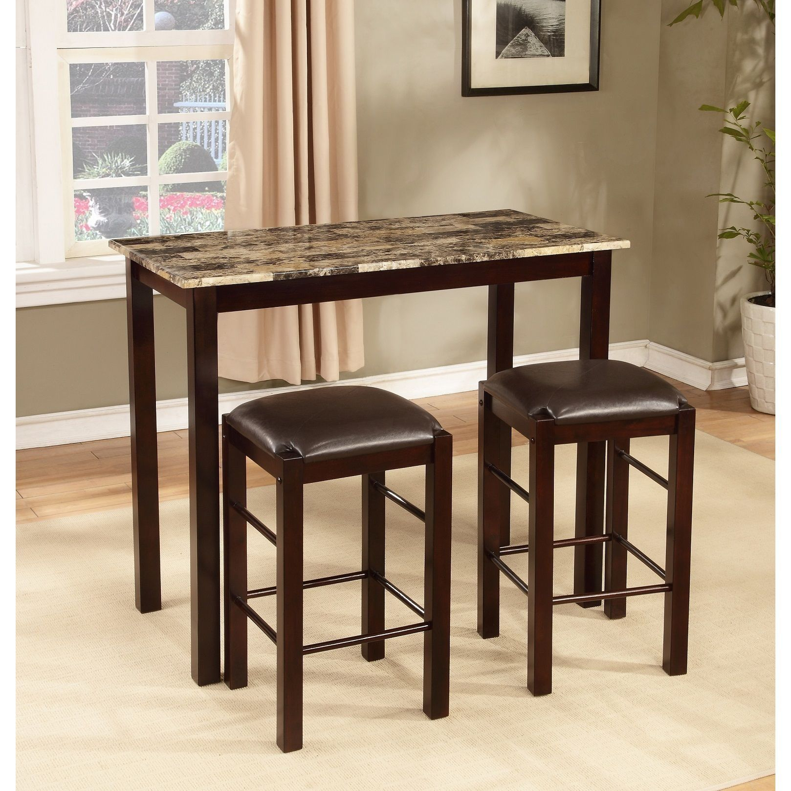 Copper Grove Luther 3 Piece Espresso Counter Height Table And Chair In Most Popular Tenney 3 Piece Counter Height Dining Sets (View 8 of 20)