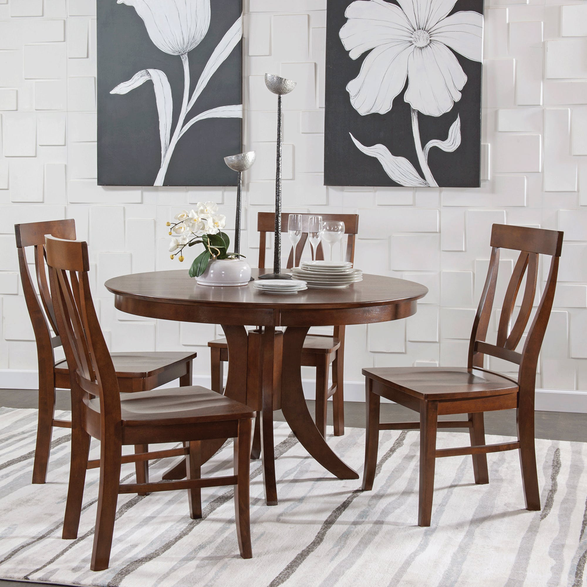 Cosmopolitan Espresso 5 Piece Set – Pub Table With 4 Verona Stools With Regard To Most Recently Released John 4 Piece Dining Sets (Image 3 of 20)