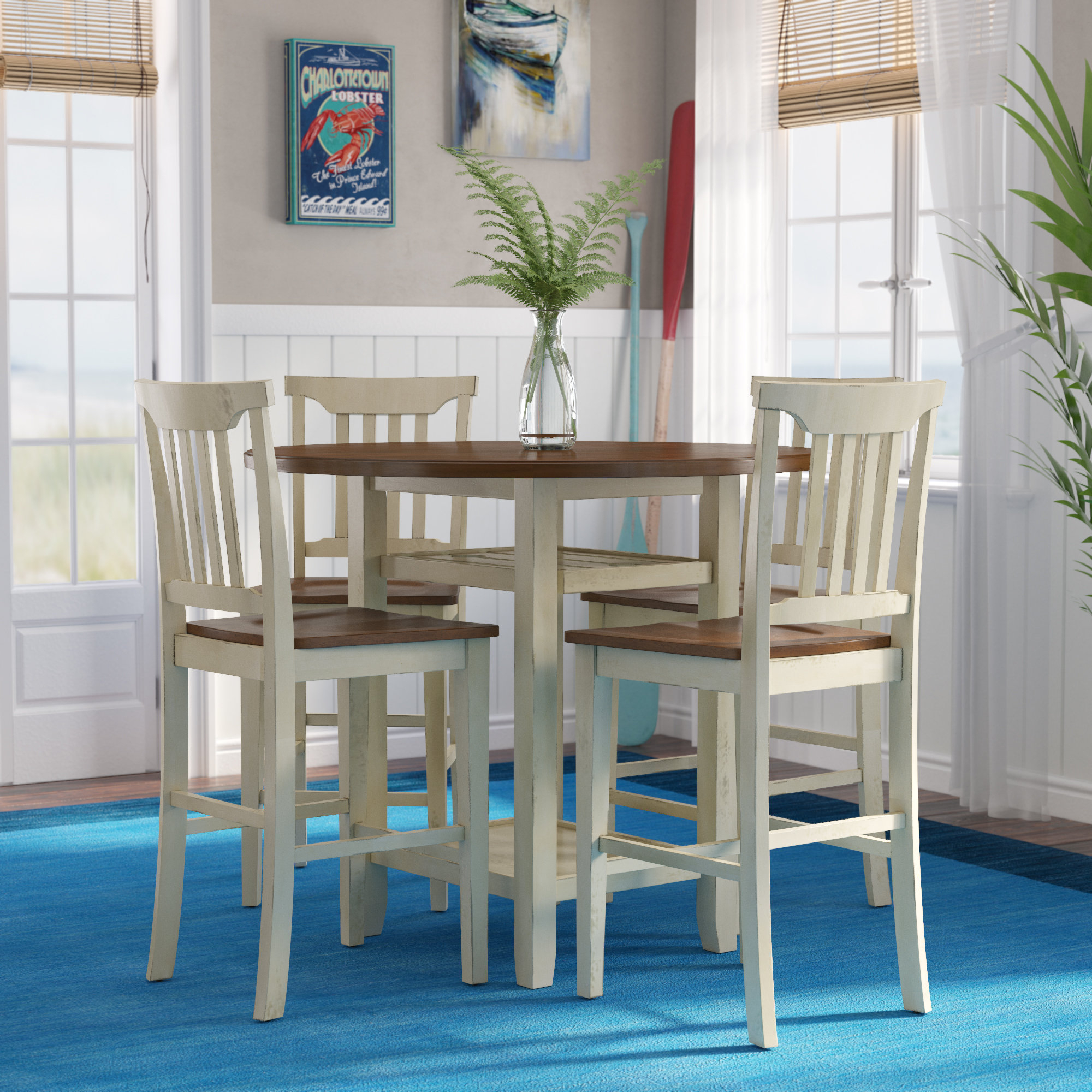 Counter Height Nook Dining Set | Sevenstonesinc Inside Most Up To Date Denzel 5 Piece Counter Height Breakfast Nook Dining Sets (Image 7 of 20)
