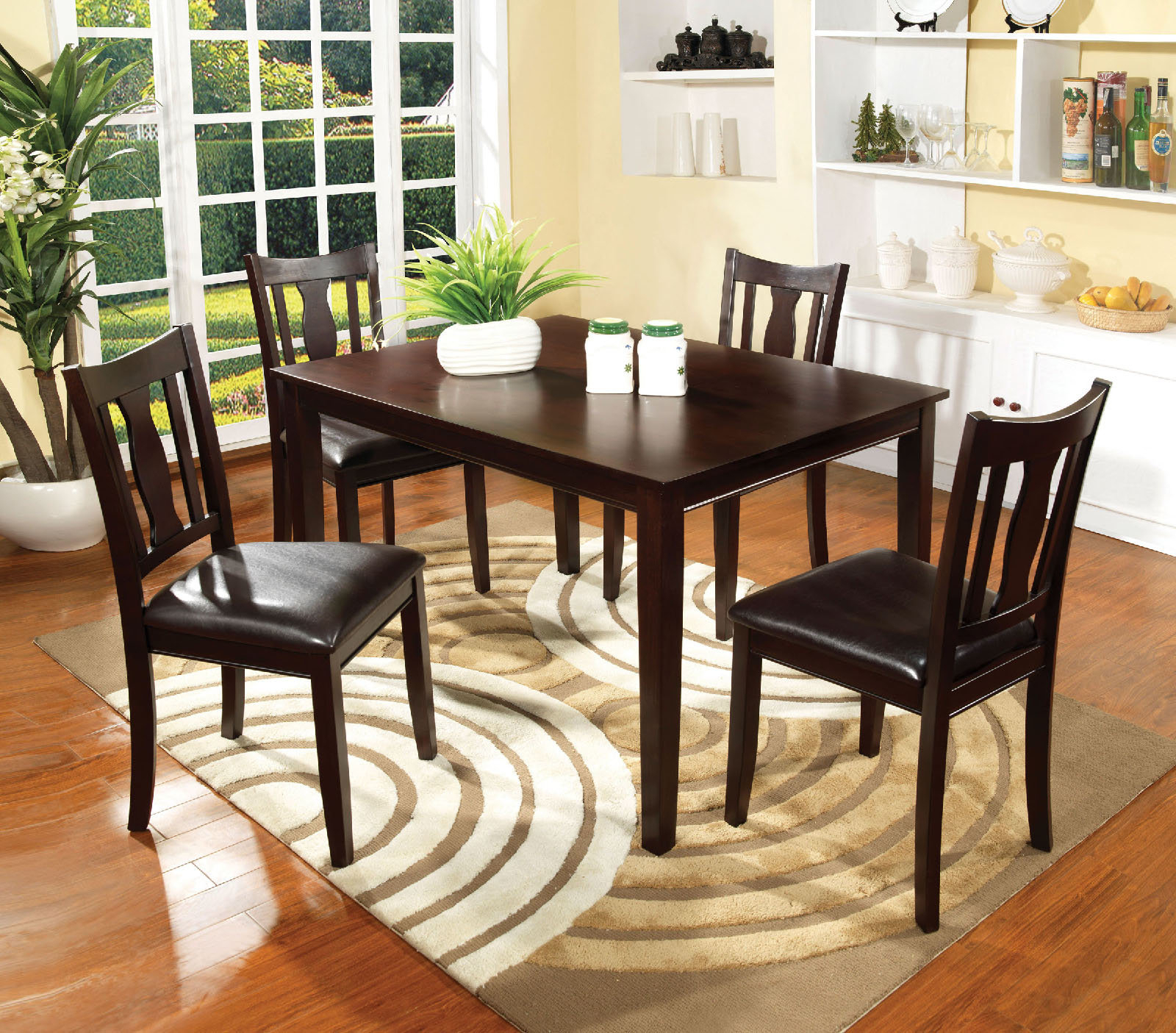 Crewellwalk 5 Piece Dining Set Intended For Most Up To Date Tavarez 5 Piece Dining Sets (Photo 7 of 20)