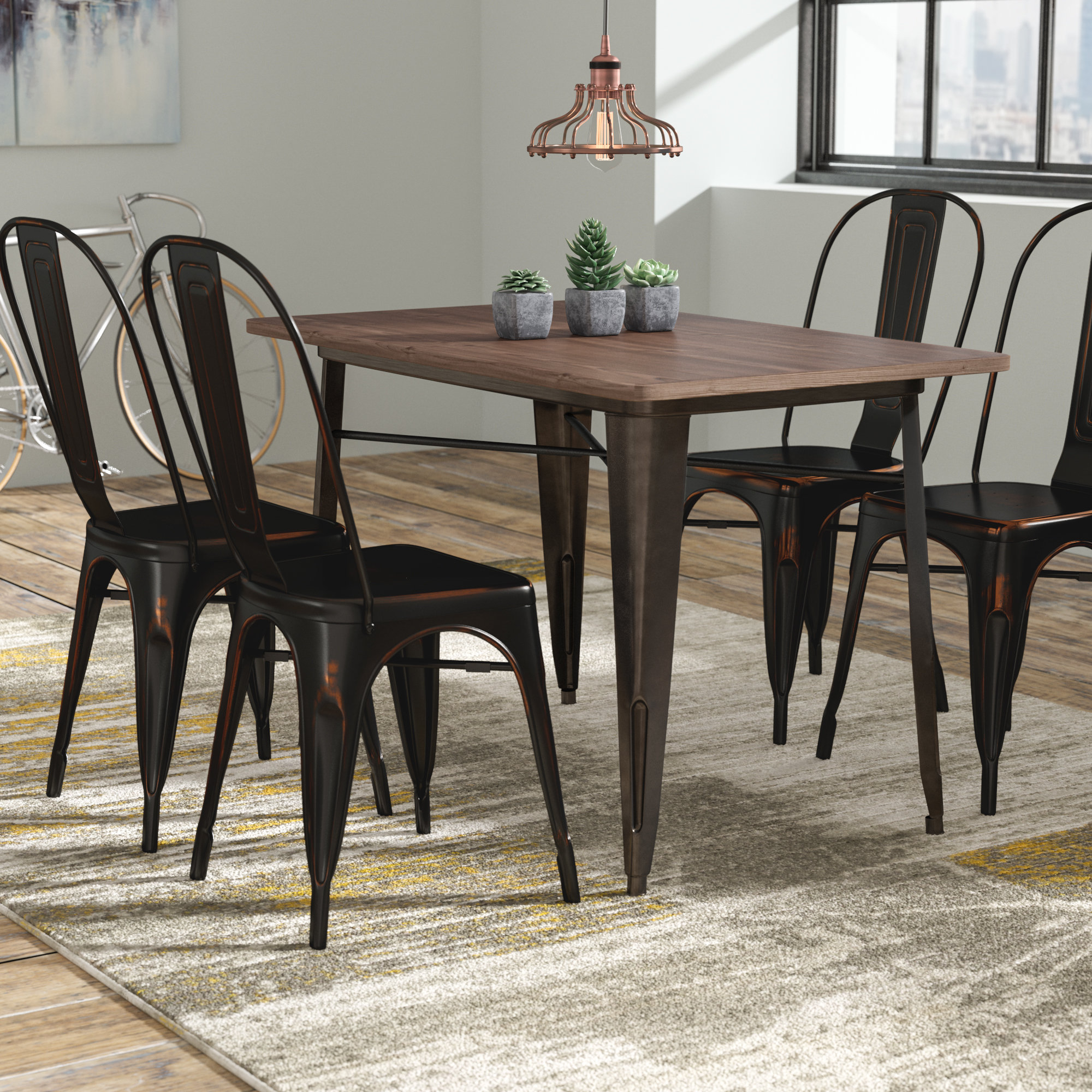 Croley 5 Piece Dining Set In Most Up To Date Tejeda 5 Piece Dining Sets (View 7 of 20)