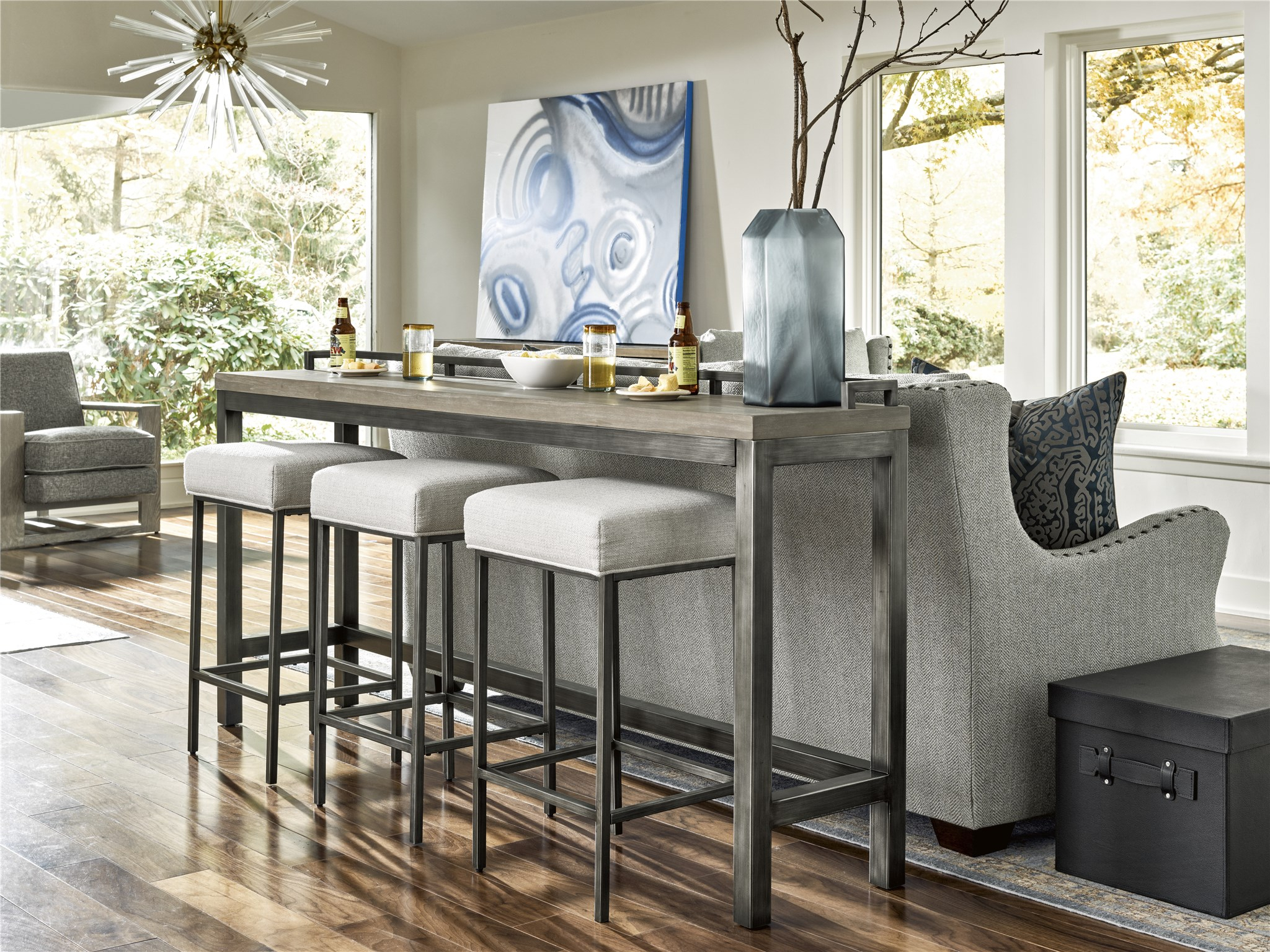 Curated Mitchell Console Table With 3 Stools | Universal Furniture In Newest Giles 3 Piece Dining Sets (View 3 of 20)