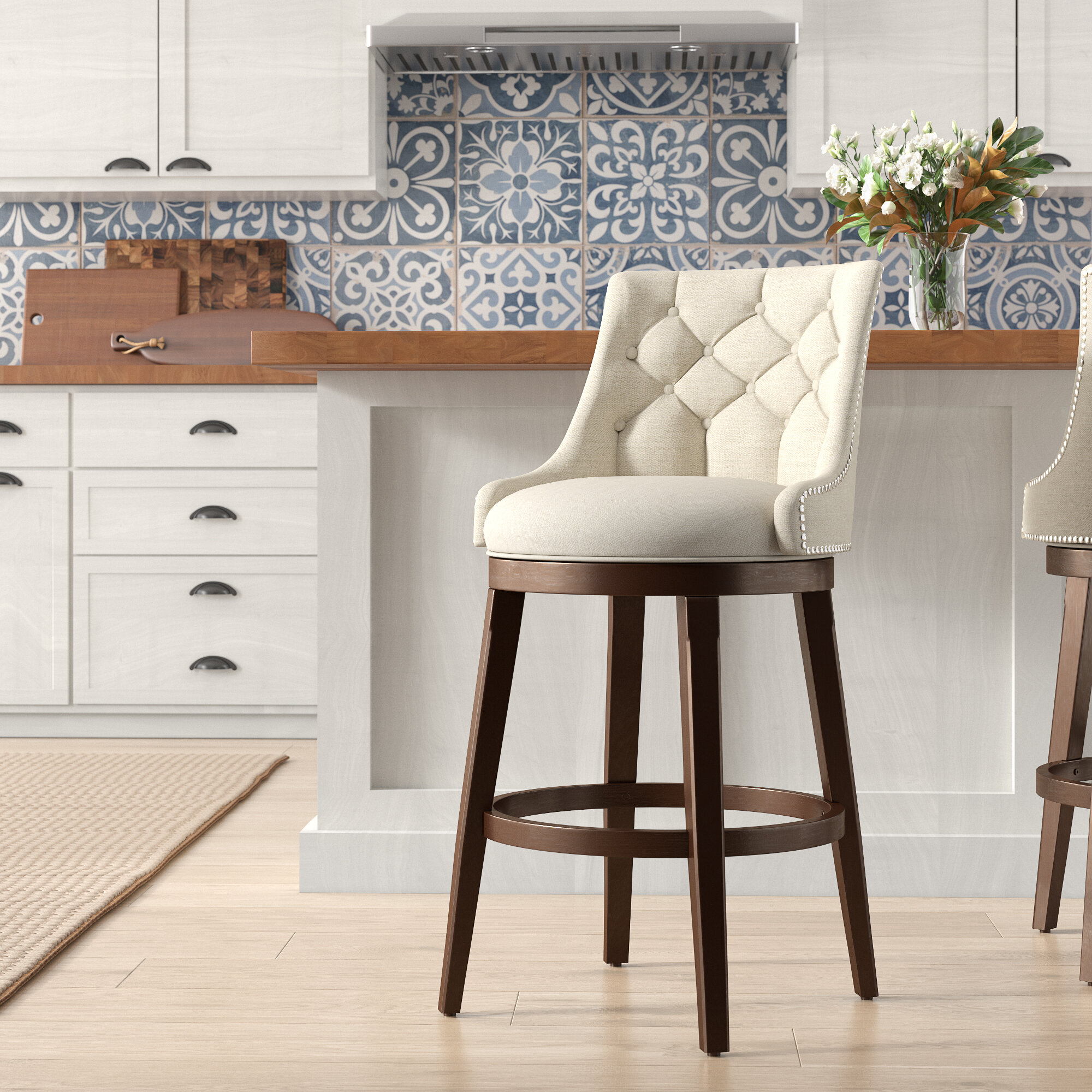 Daniel Bar & Counter Swivel Stool With 2018 Denzel 5 Piece Counter Height Breakfast Nook Dining Sets (Image 9 of 20)