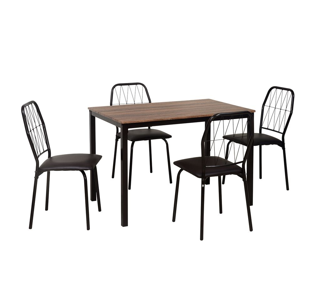 Danish 4 Seater Dining Set – @homenilkamal, Chocolate In 2019 With Most Up To Date Telauges 5 Piece Dining Sets (View 14 of 20)