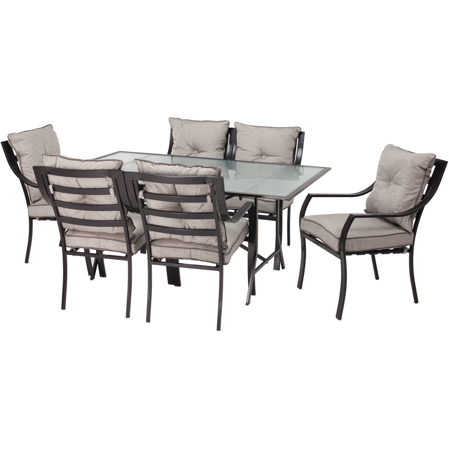 Darby Home Co Bozarth 7 Piece Dining Set With Cushion With Regard To Newest Miskell 3 Piece Dining Sets (Photo 19 of 20)