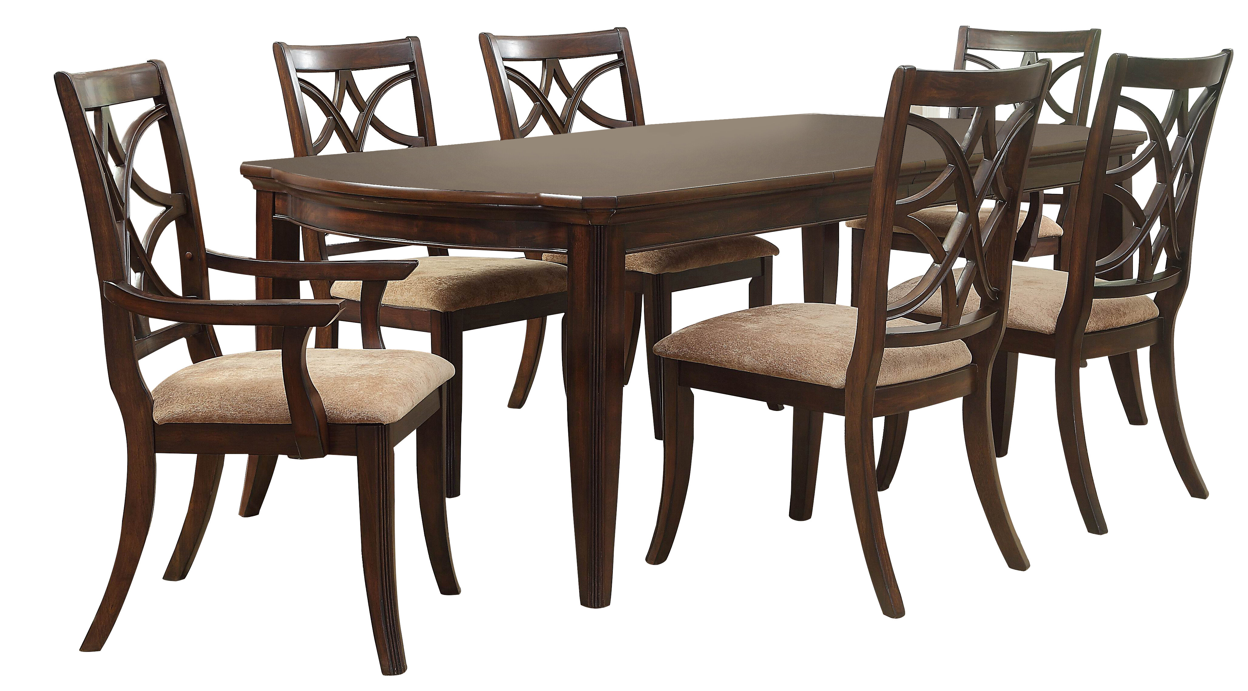 Darby Home Co Kinsman 7 Piece Extendable Dining Set Within Best And Newest Laconia 7 Pieces Solid Wood Dining Sets (Set Of 7) (Photo 6 of 20)