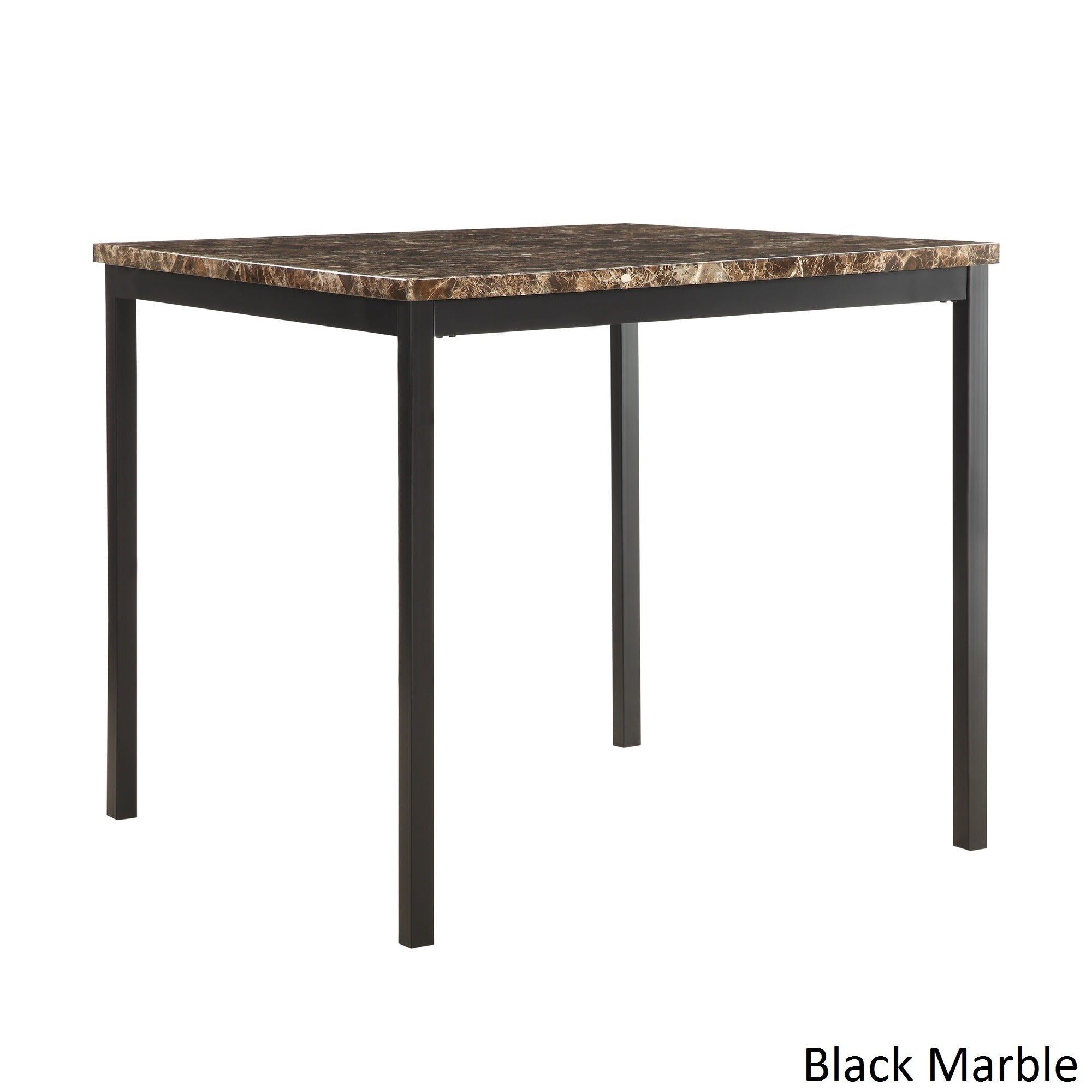Darcy Faux Marble Black Metal Counter Height Dining Tableinspire Q Bold With Most Recently Released Kaya 3 Piece Dining Sets (Image 3 of 20)