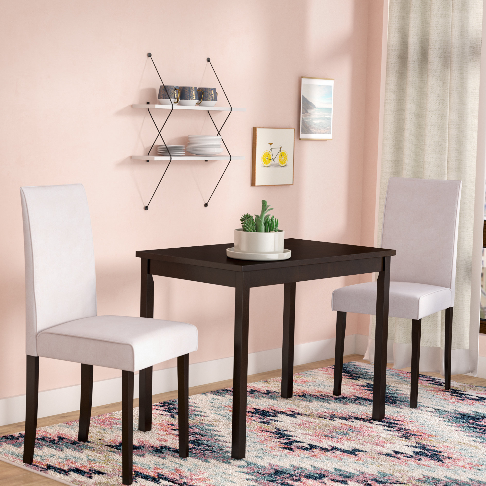 Darvell 3 Piece Dining Set Throughout Most Recent Baillie 3 Piece Dining Sets (Image 6 of 20)