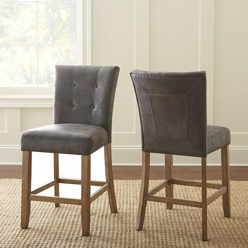 Debby Counter Chair Grey (Set Of 2) For Most Recently Released Debby Small Space 3 Piece Dining Sets (Photo 14 of 20)