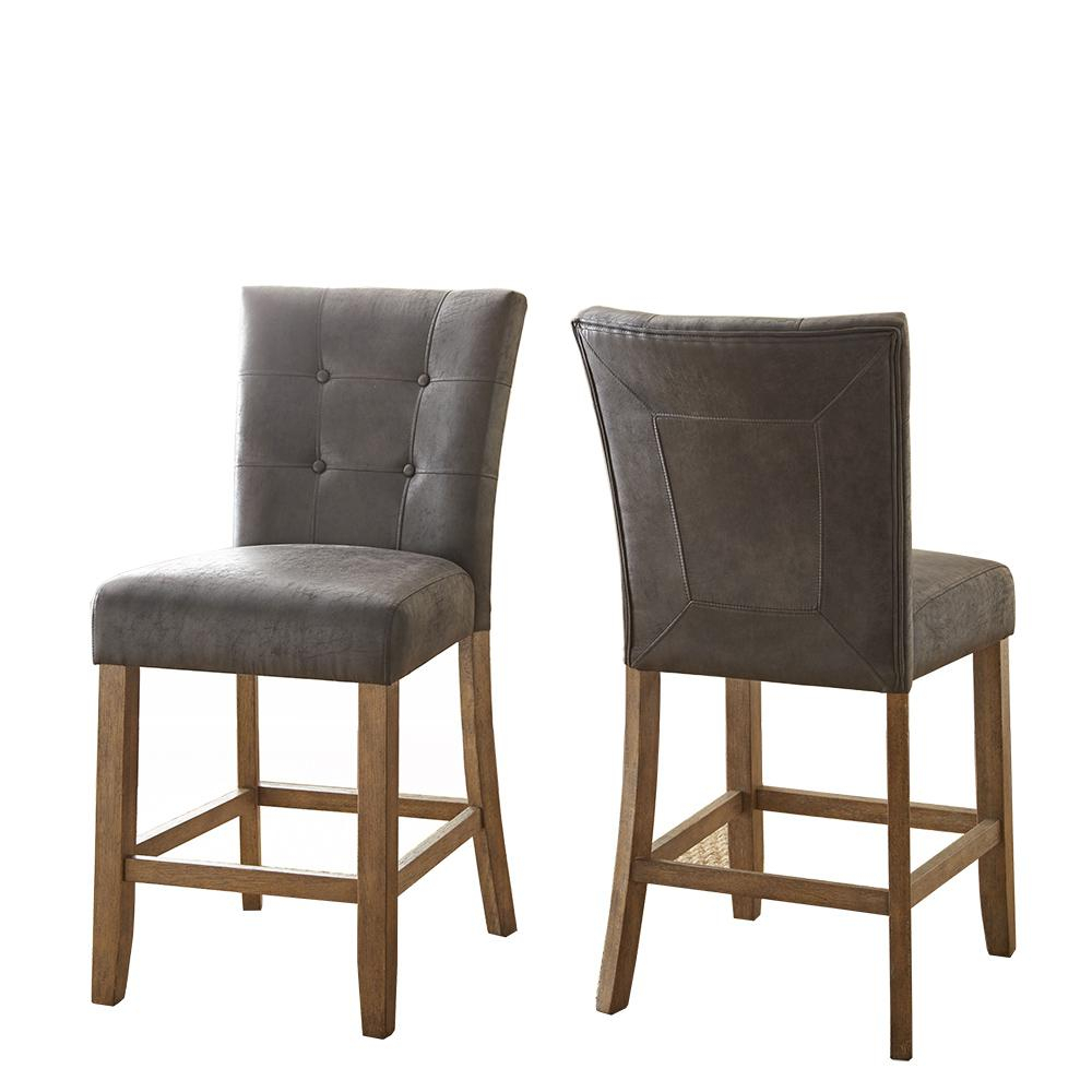 Debby Counter Chair Grey (Set Of 2) Regarding Current Debby Small Space 3 Piece Dining Sets (View 9 of 20)