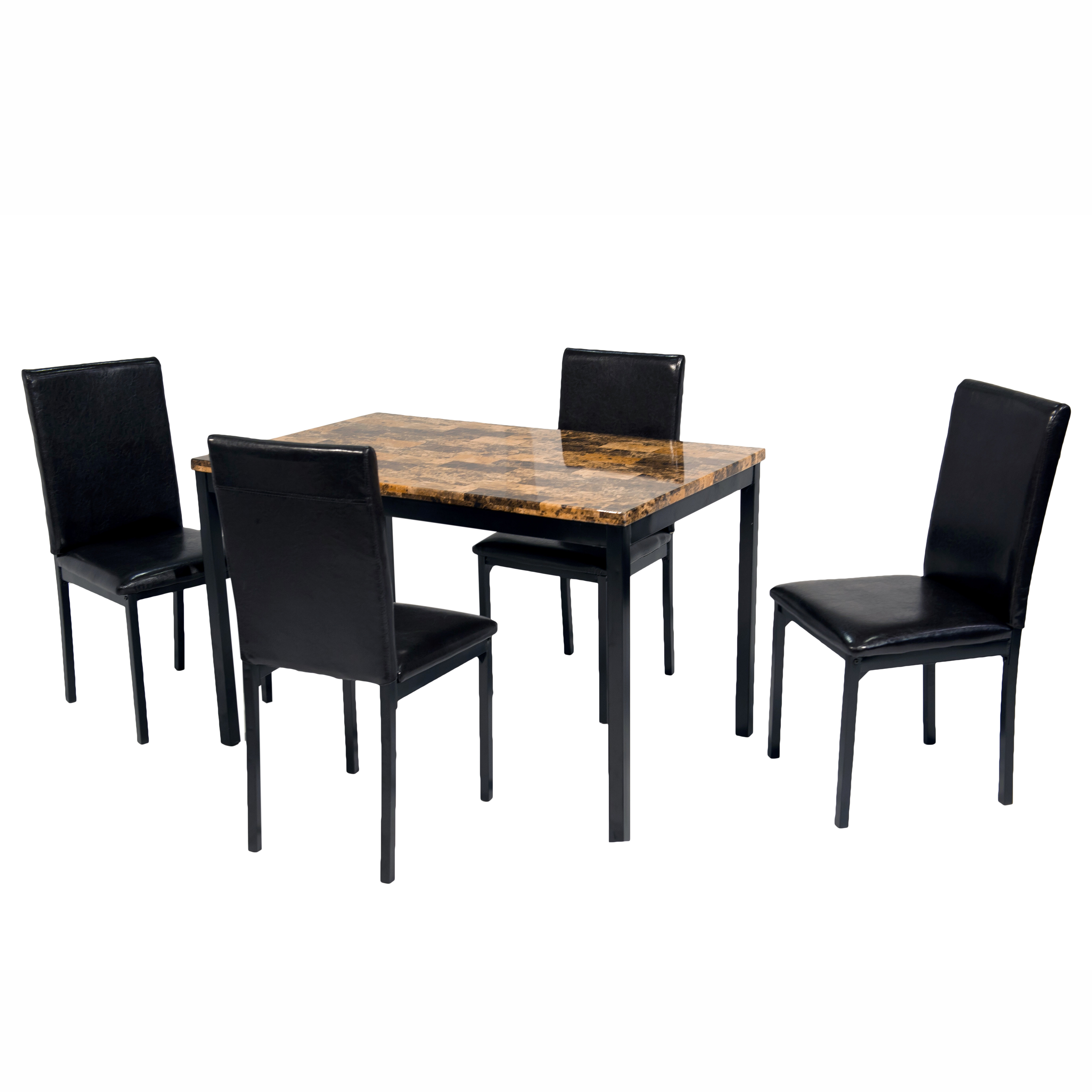 Della 5 Piece Dining Set With Most Up To Date Shepparton Vintage 3 Piece Dining Sets (View 14 of 20)