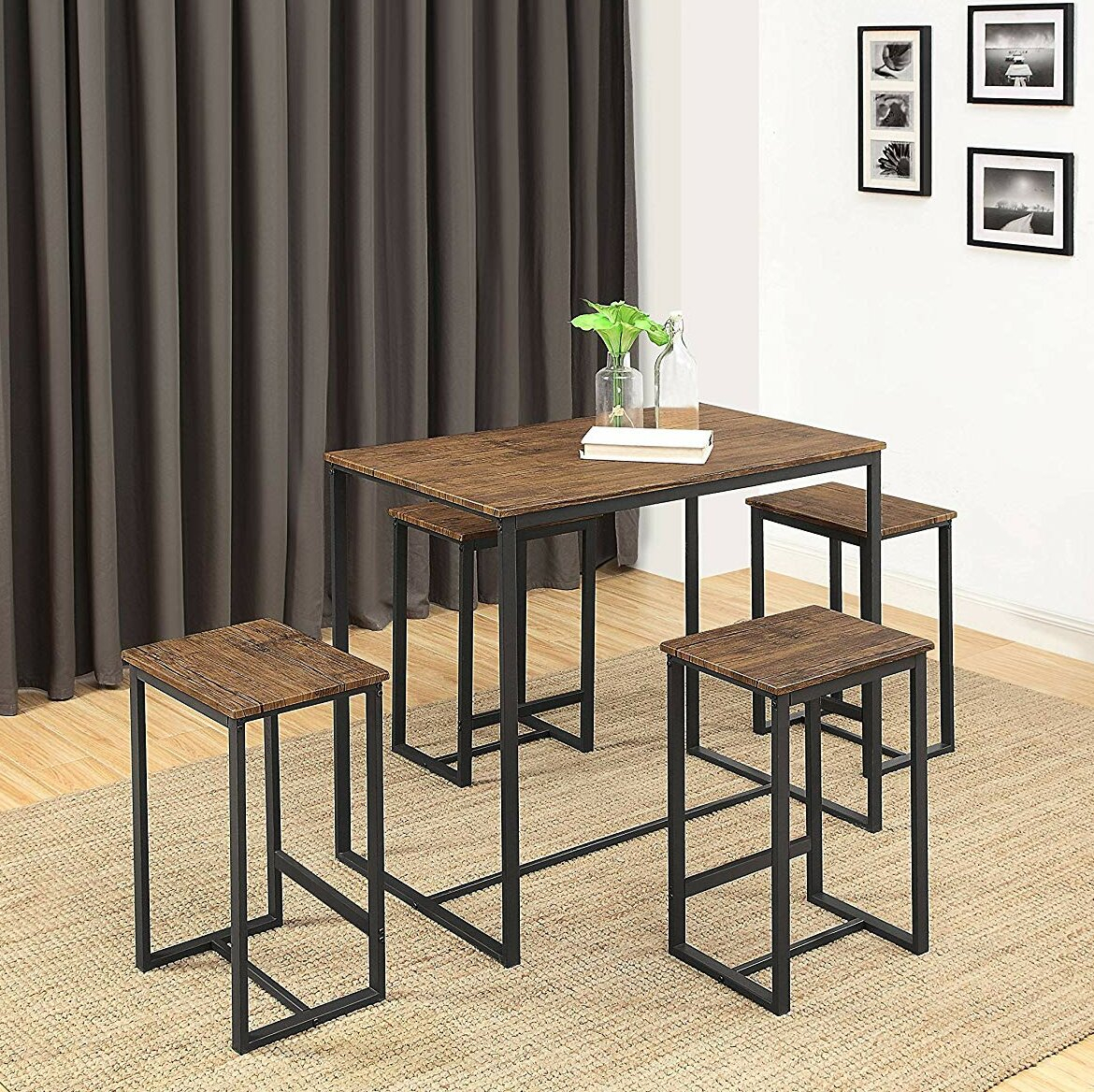 Delmar 5 Piece Dining Set Throughout Best And Newest Wallflower 3 Piece Dining Sets (Image 1 of 20)