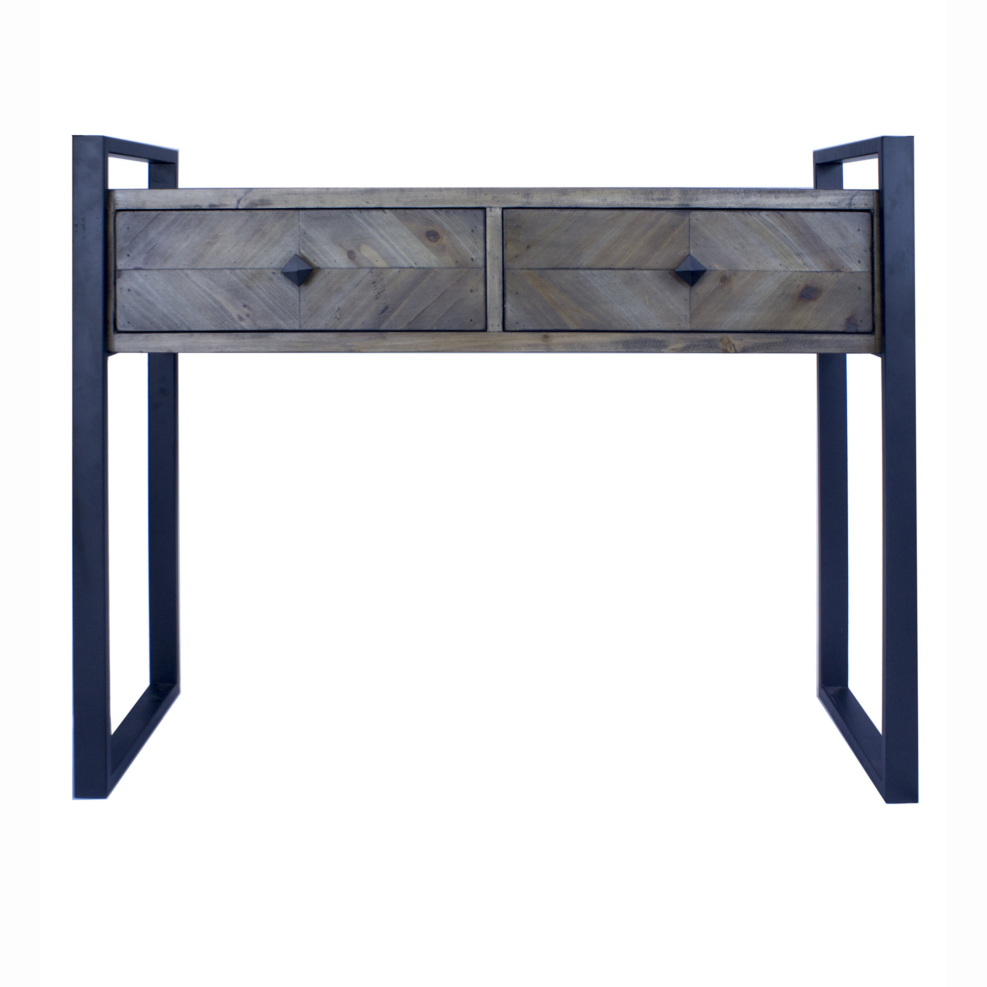 Delphine 2 Drawer Console Table In 2017 Yedinak 5 Piece Solid Wood Dining Sets (View 18 of 20)