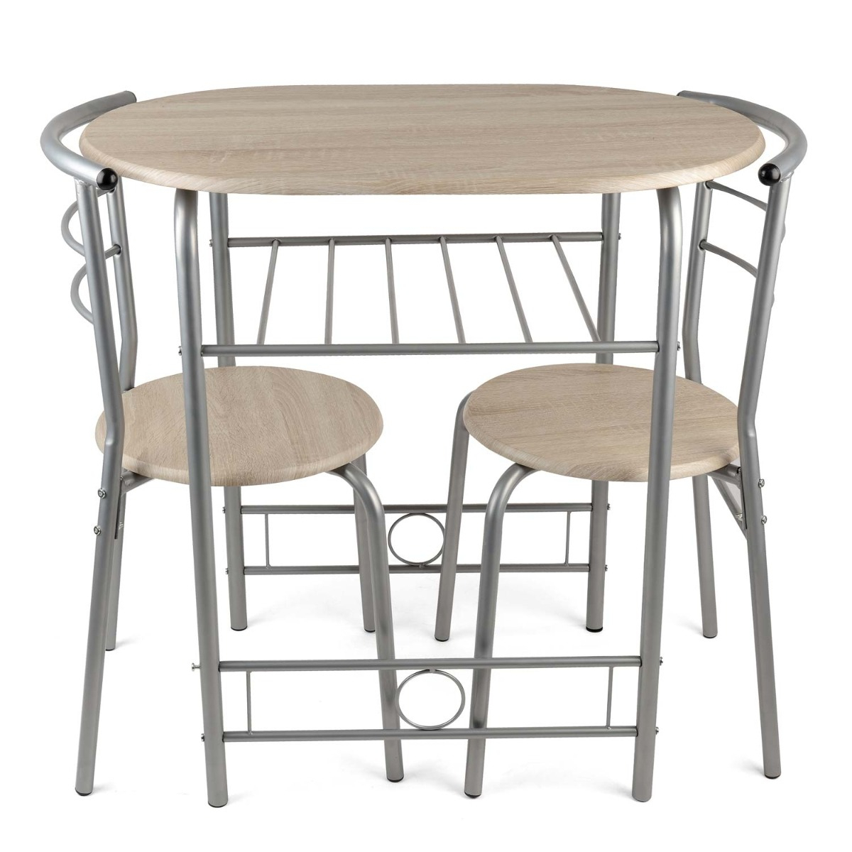 Details About 3 Piece Dining Set Breakfast Bar Kitchen Table Chairs Christow Furniture With Regard To Most Recent 3 Piece Breakfast Dining Sets (View 12 of 20)