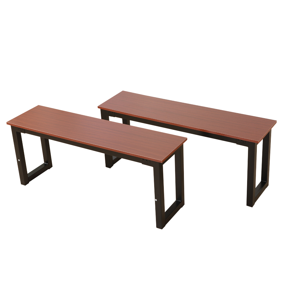 Details About Brown Dining Table Set 3 Piece Benches Breakfast Nook Steel  Frame Kitchen New For Most Popular Lillard 3 Piece Breakfast Nook Dining Sets (Image 4 of 20)