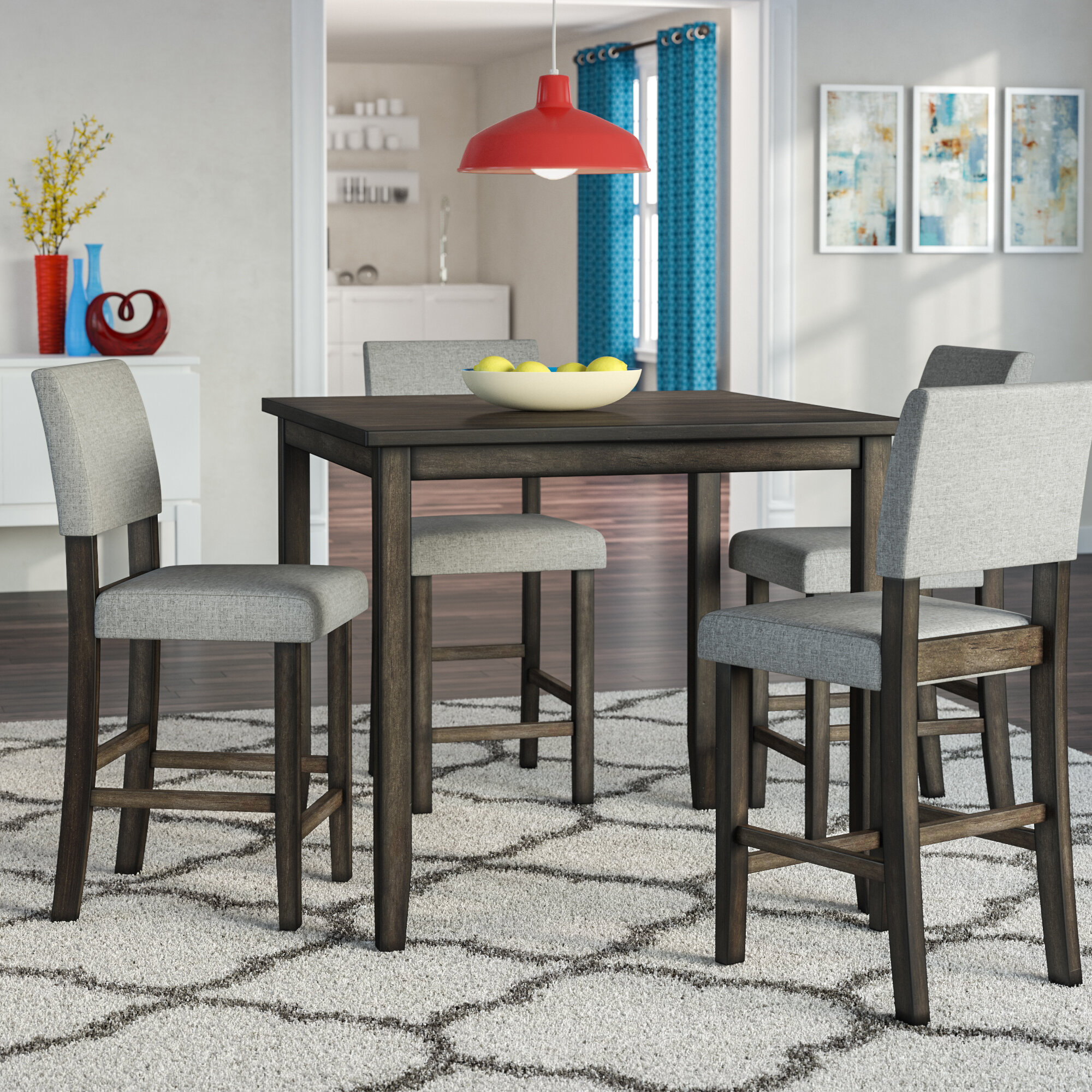 Details About Ebern Designs Terrazas 5 Piece Dining Set For Most Popular Lightle 5 Piece Breakfast Nook Dining Sets (Image 7 of 20)