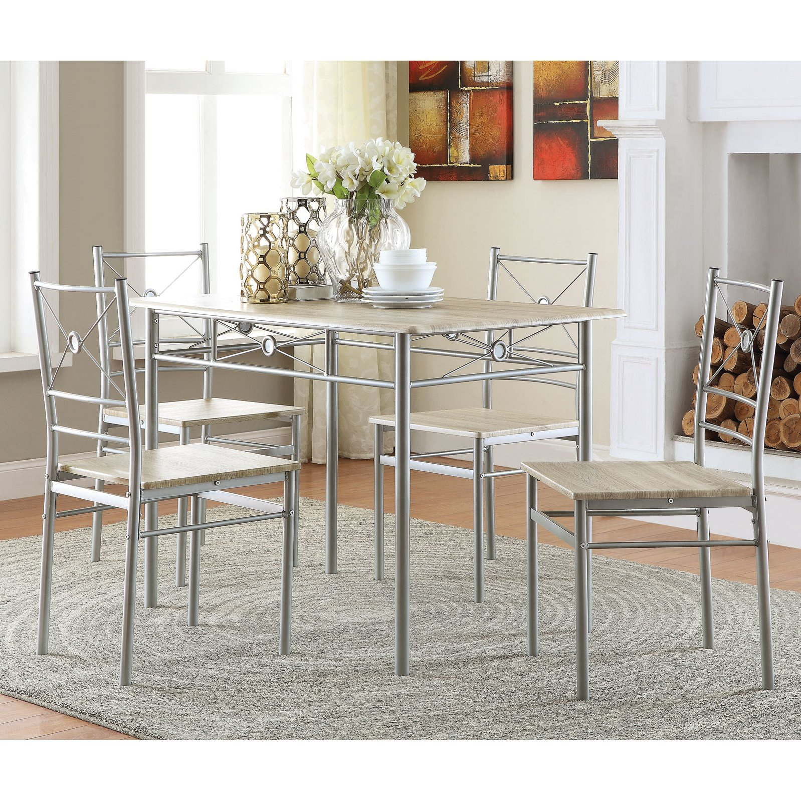 Details About Kieffer 5 Piece Dining Table And Chairs Beautiful Kitchen  Room Furniture Set With Most Recently Released Kieffer 5 Piece Dining Sets (Photo 1 of 20)