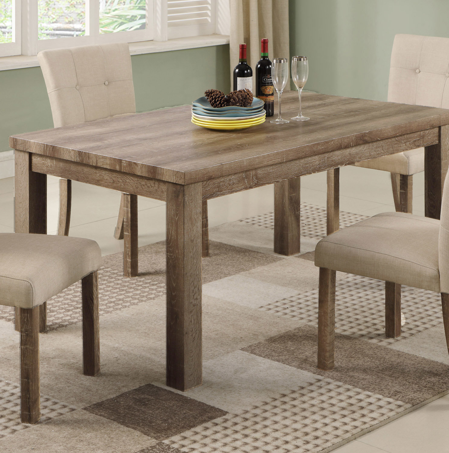 Details About Millwood Pines Ephraim Dining Table With Latest Ephraim 5 Piece Dining Sets (Photo 12 of 20)