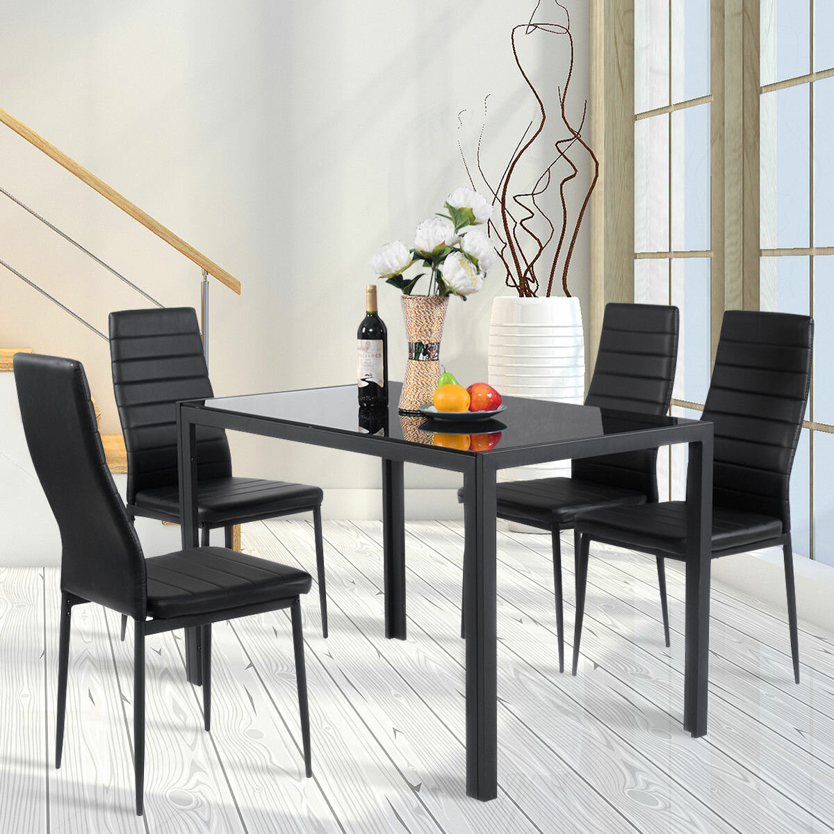 Details About Orren Ellis Edgeworth 5 Piece Dining Set With Recent Travon 5 Piece Dining Sets (View 6 of 20)
