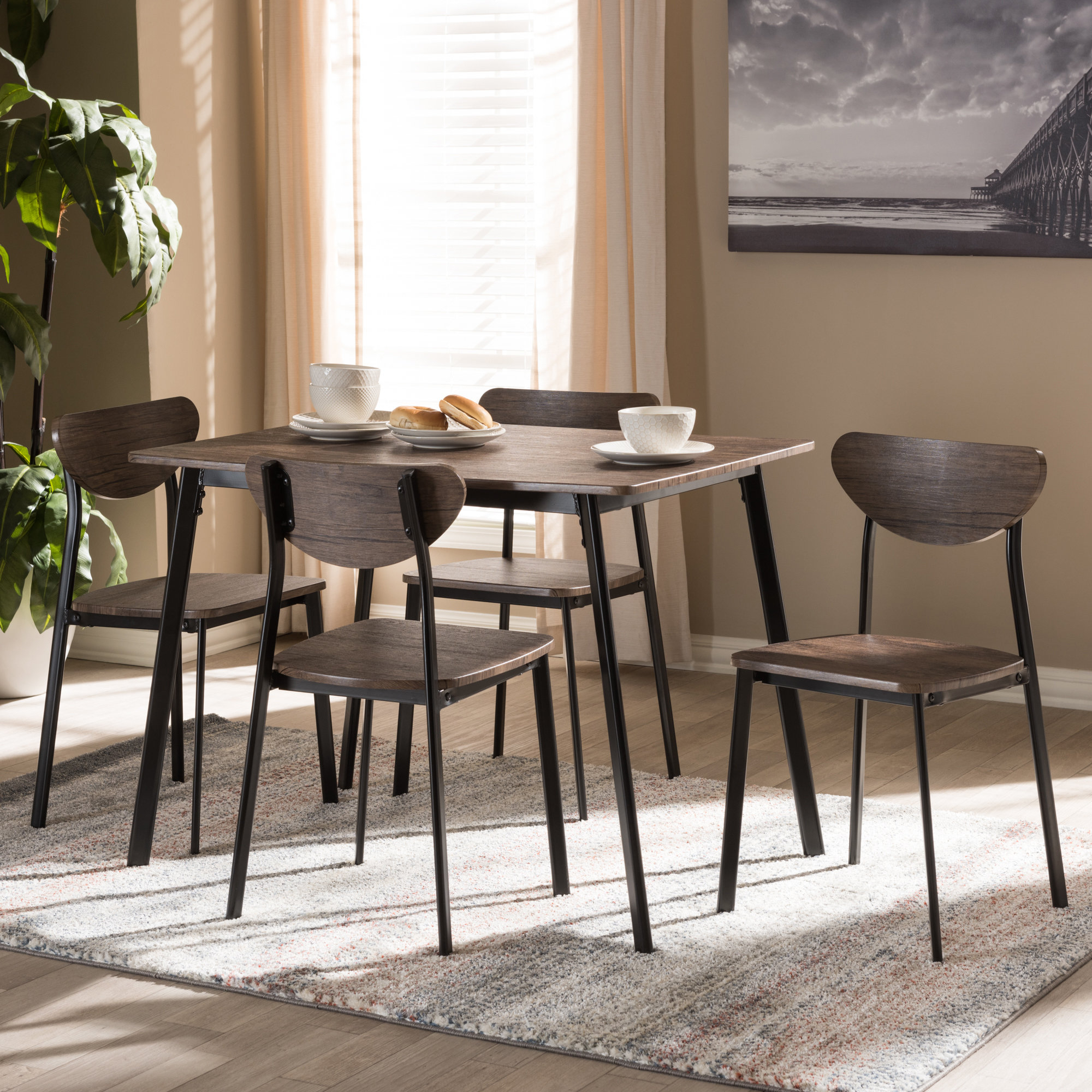 Details About Union Rustic Tejeda 5 Piece Dining Set With Regard To Latest Tejeda 5 Piece Dining Sets (View 2 of 20)