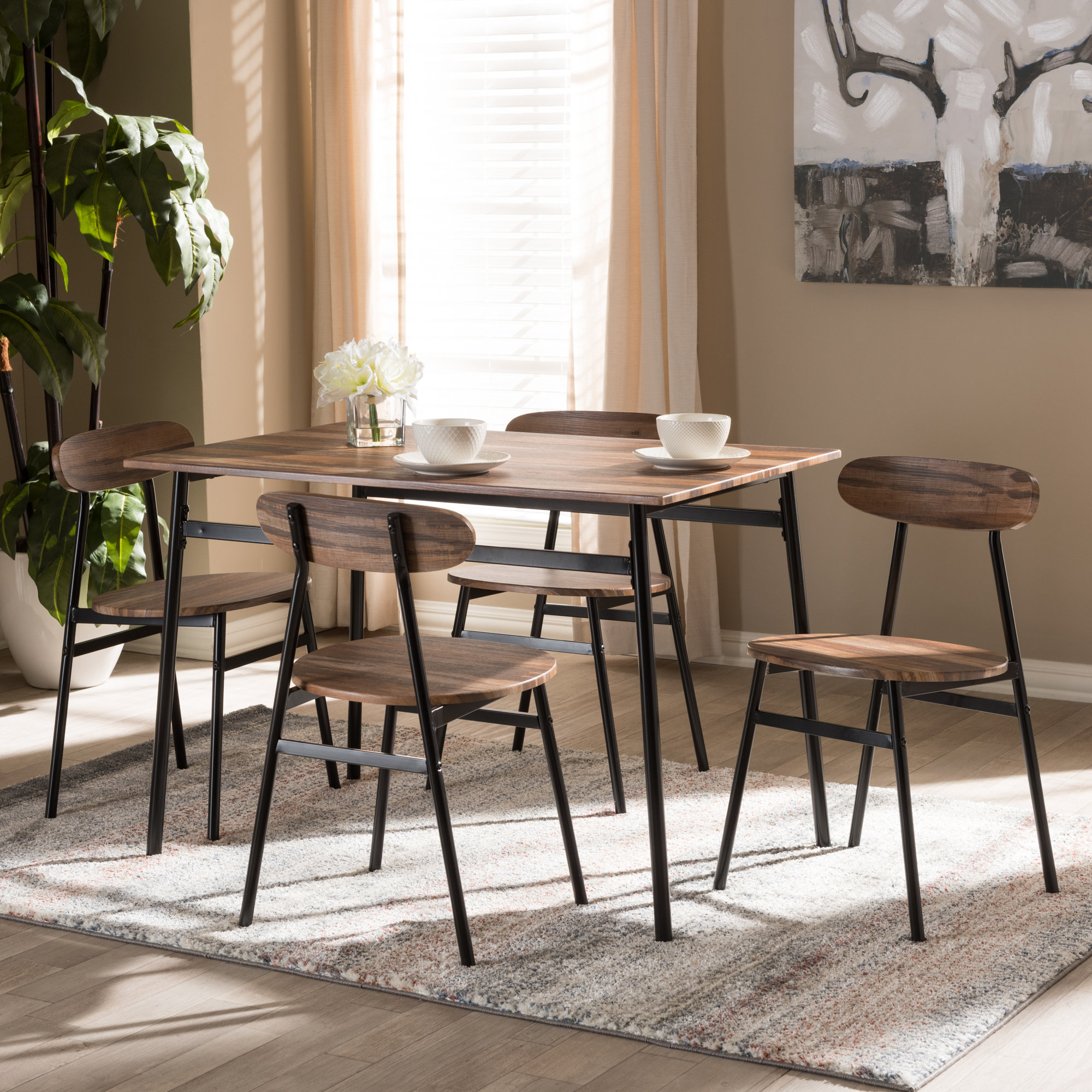 Details About Union Rustic Telauges 5 Piece Dining Set With Regard To Most Recently Released Telauges 5 Piece Dining Sets (View 2 of 20)