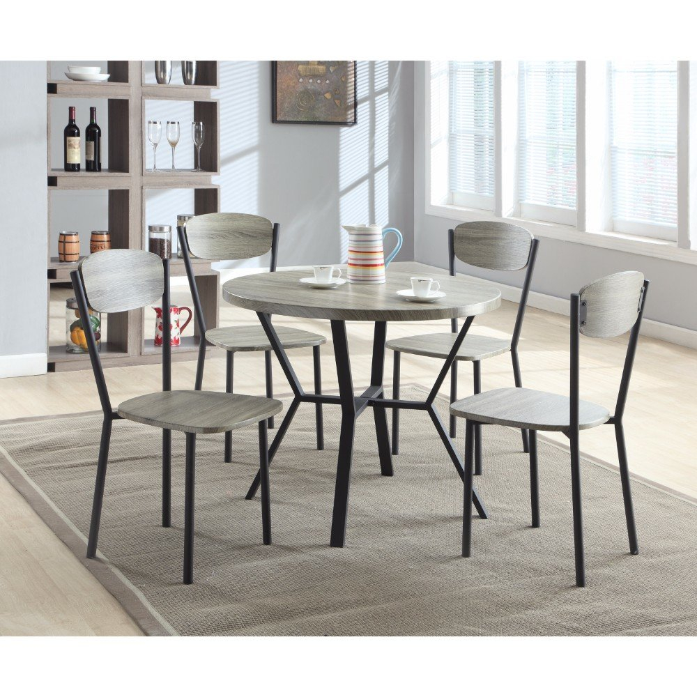 Details About Williston Forge Merrifield 5 Piece Round Dining Set Throughout Most Up To Date Mulvey 5 Piece Dining Sets (View 11 of 20)