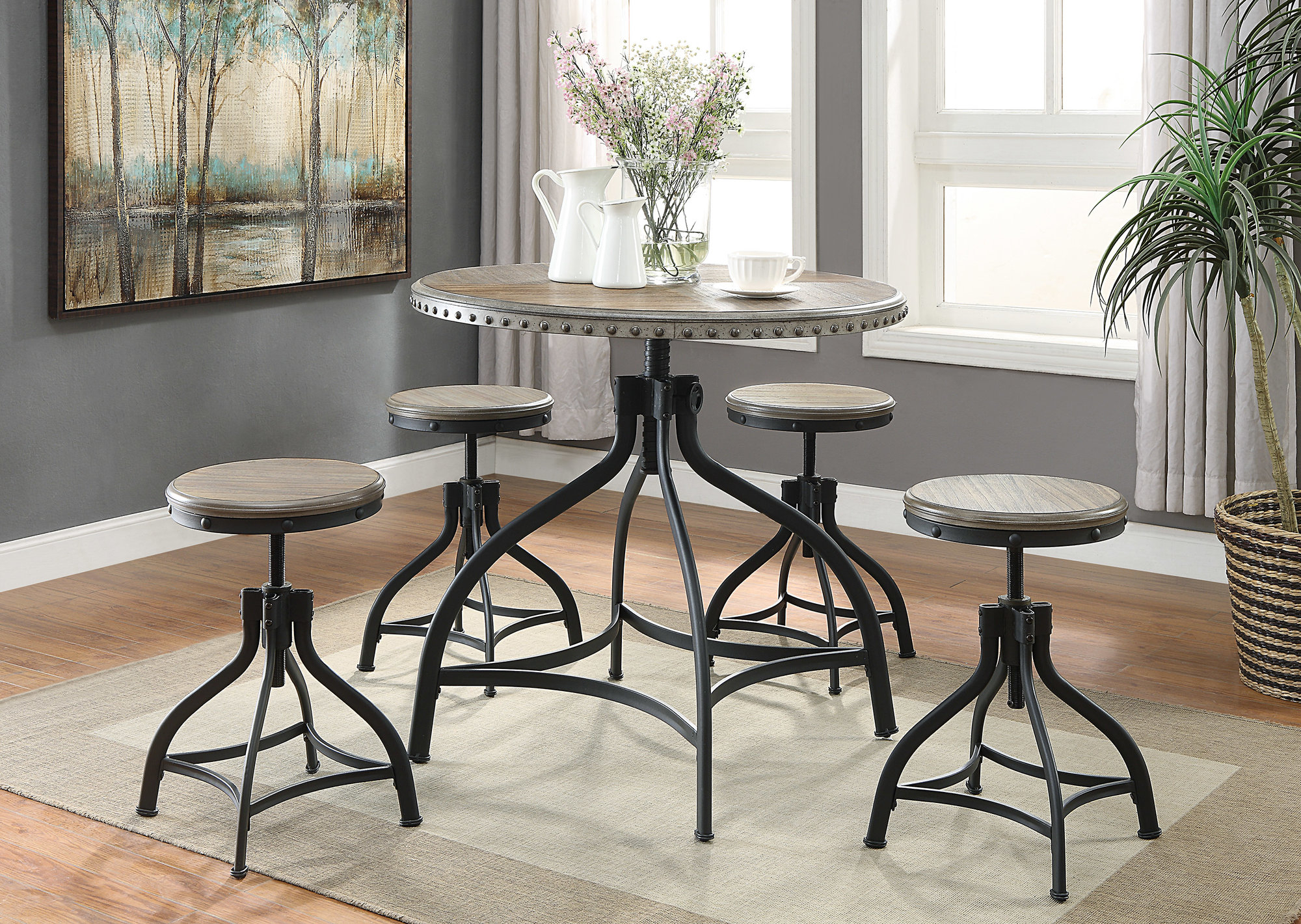 Details About Williston Forge Millner 5 Piece Dining Set With Regard To Most Current Mulvey 5 Piece Dining Sets (View 17 of 20)