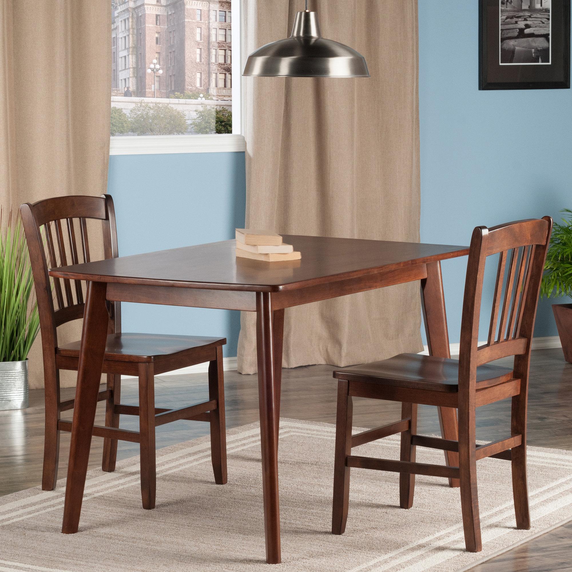 Details About Winston Porter Guynn 3 Piece Solid Wood Dining Set Wnst1156 Regarding Most Popular Yedinak 5 Piece Solid Wood Dining Sets (View 11 of 20)