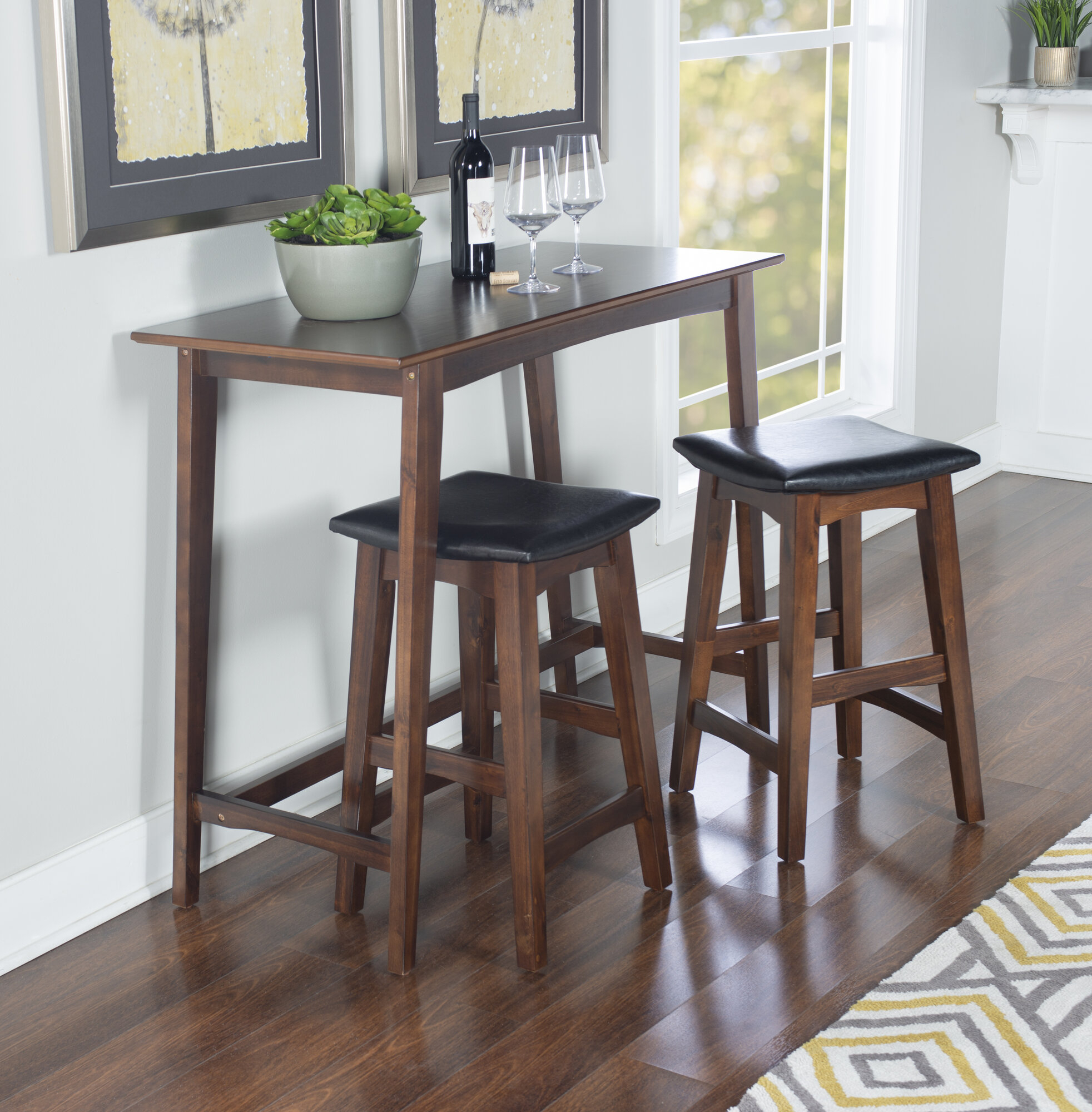 Details About Wrought Studio Lonon 3 Piece Dining Set Intended For Current Lonon 3 Piece Dining Sets (View 2 of 20)