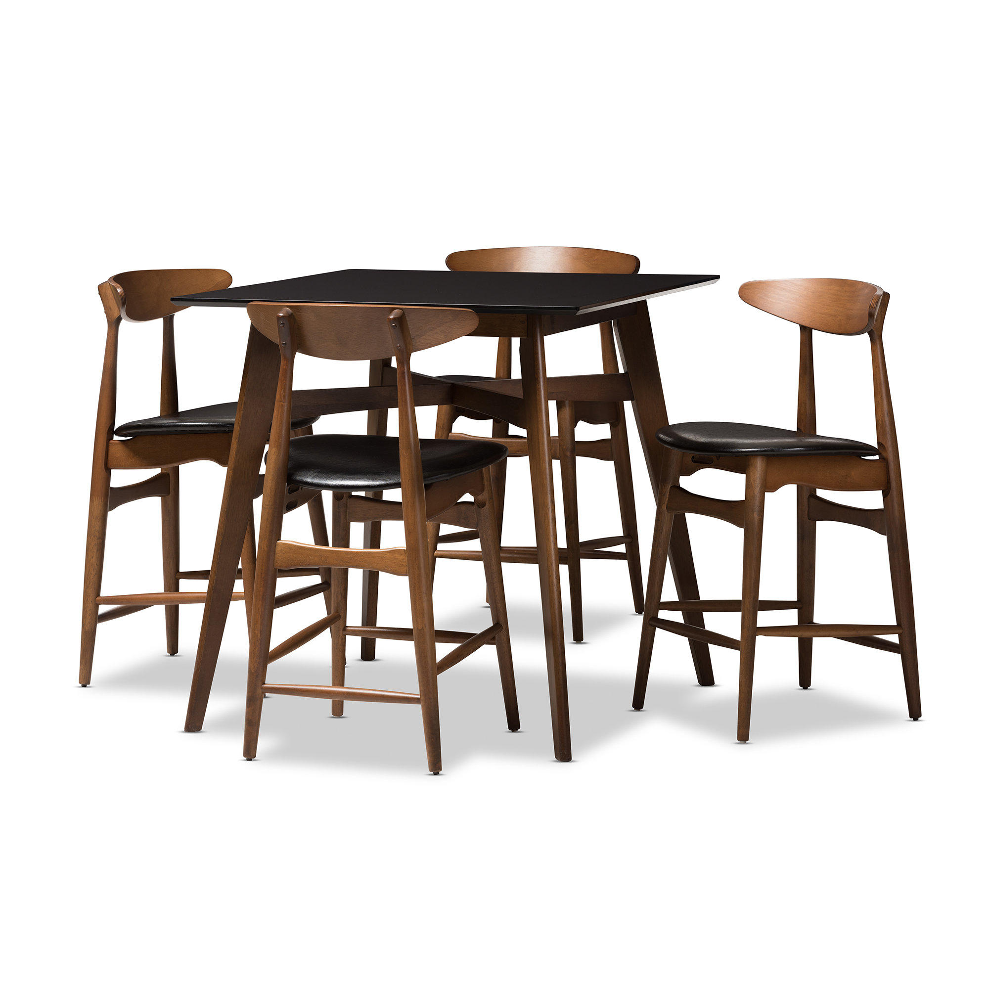 Diez Mid Century 5 Piece Pub Table Set Inside 2018 Hood Canal 3 Piece Dining Sets (Image 5 of 20)