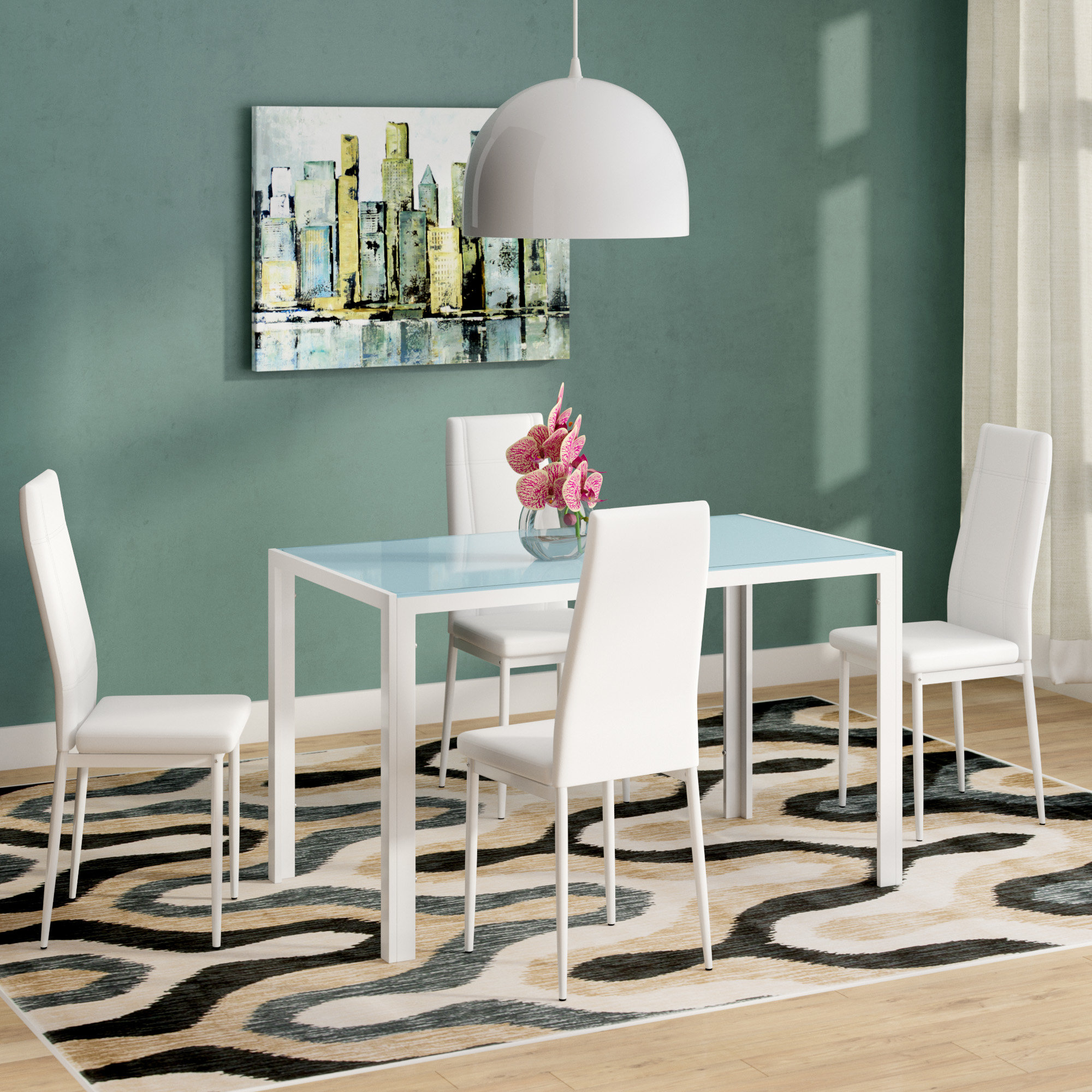 Dimattia 5 Piece Dining Set With Regard To Most Up To Date Travon 5 Piece Dining Sets (View 5 of 20)
