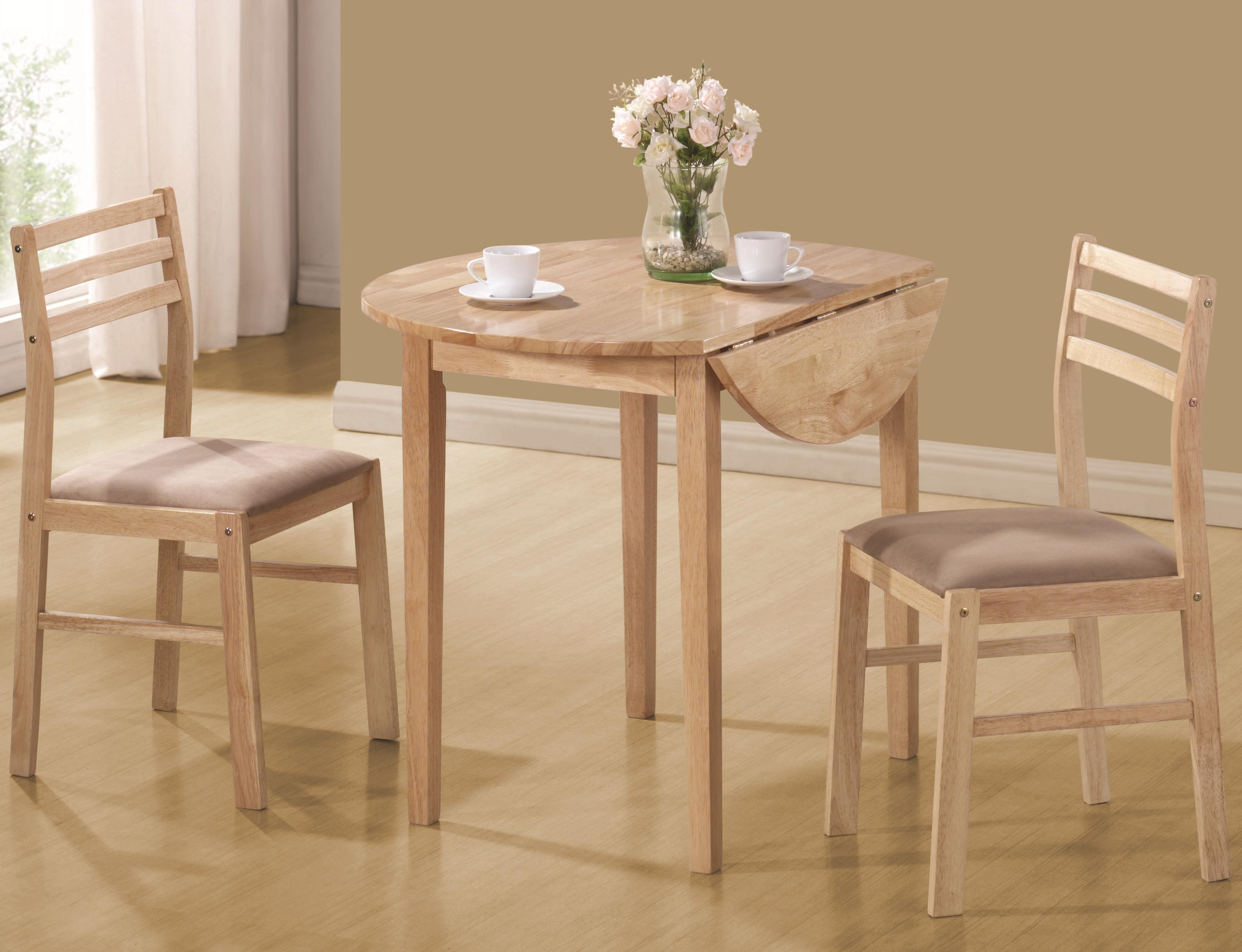 Dinettes Casual 3 Piece Table & Chair Setcoaster At Value City Furniture Inside 2018 3 Piece Breakfast Dining Sets (View 7 of 20)