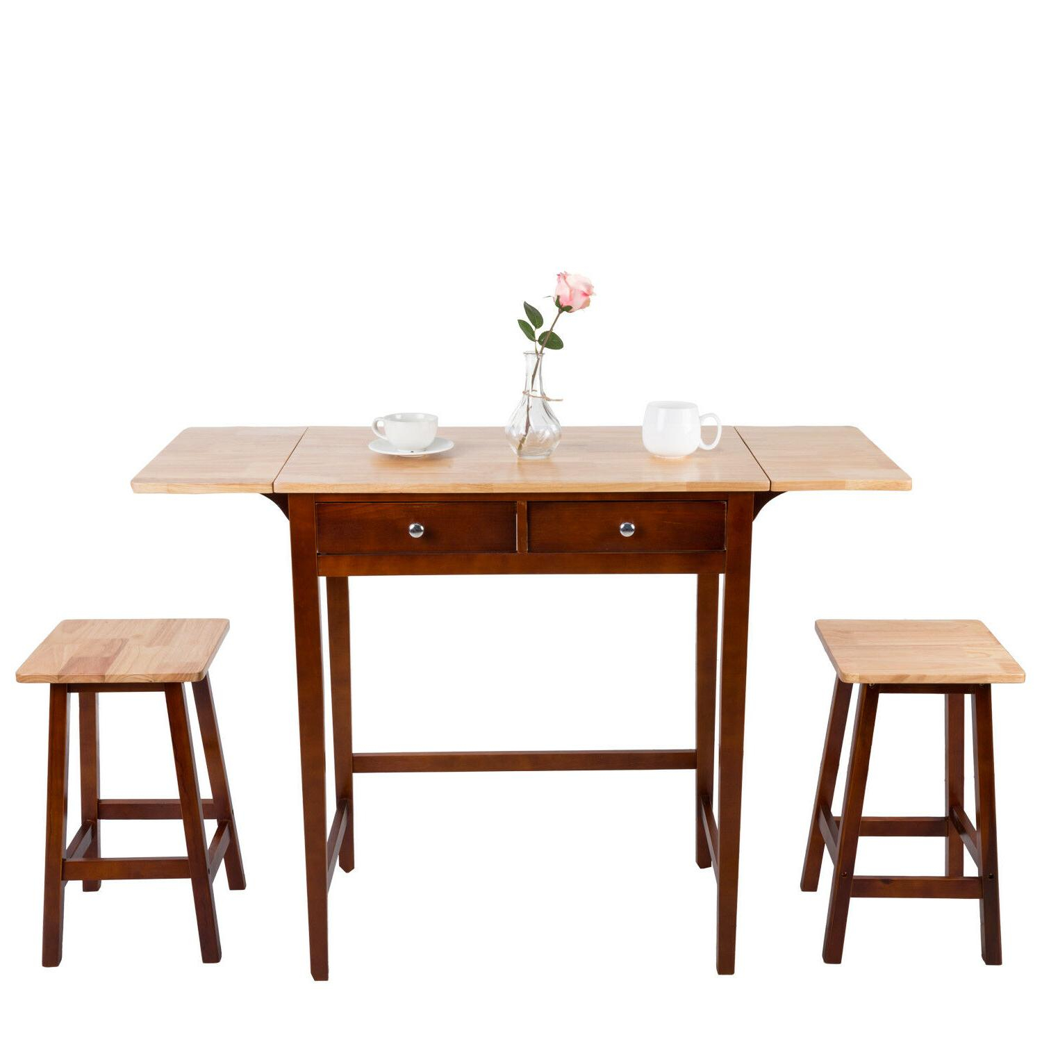 Dining Set 3 Pc Wood Breakfast Nook Bist Throughout Best And Newest Ligon 3 Piece Breakfast Nook Dining Sets (Image 6 of 20)