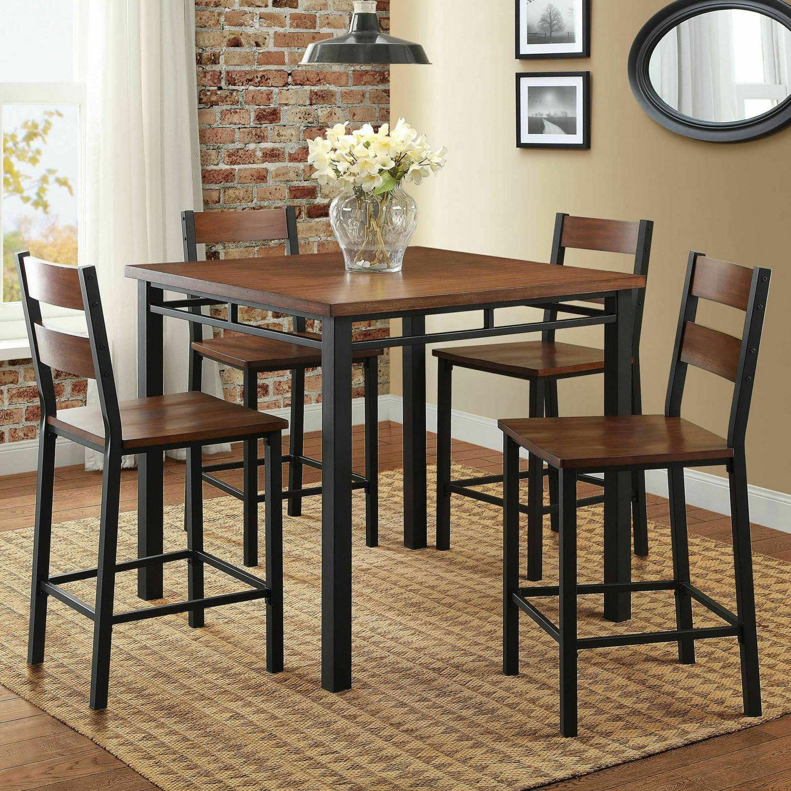 Dining Set Counter Height Table 5 Piece Regarding Latest Noyes 5 Piece Dining Sets (View 17 of 20)