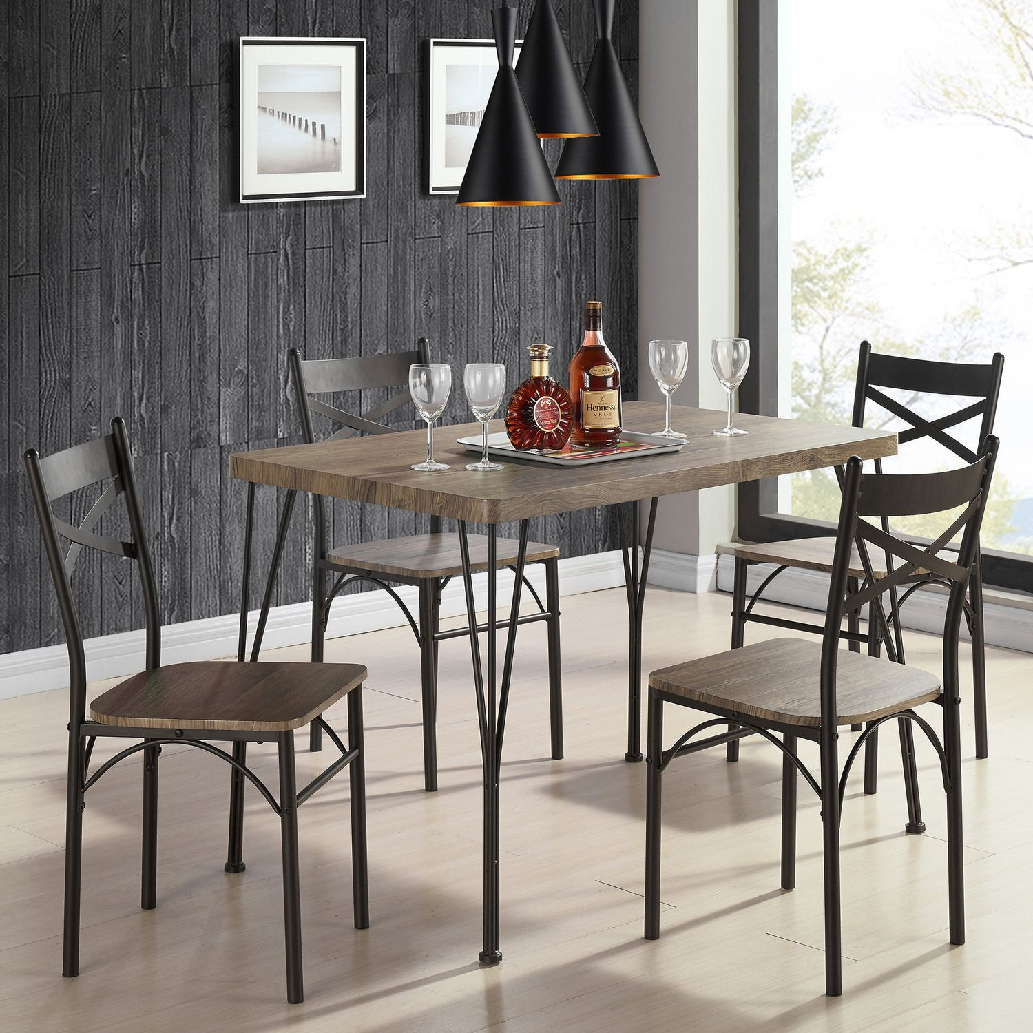 Dining Table Set – 5 Pc | Walmart Canada Regarding Best And Newest Aria 5 Piece Dining Sets (View 10 of 20)
