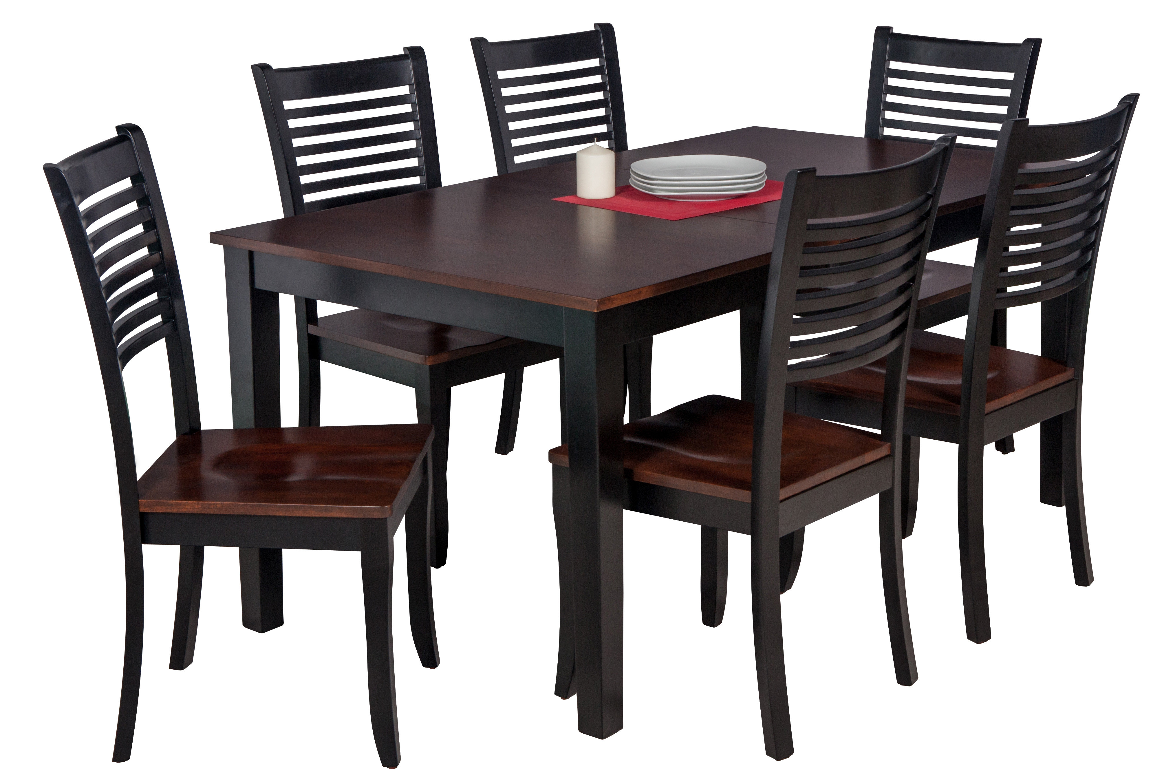 Downieville Lawson Dumont 7 Piece Solid Wood Dining Set Regarding Recent Hanska Wooden 5 Piece Counter Height Dining Table Sets (Set Of 5) (Image 7 of 20)
