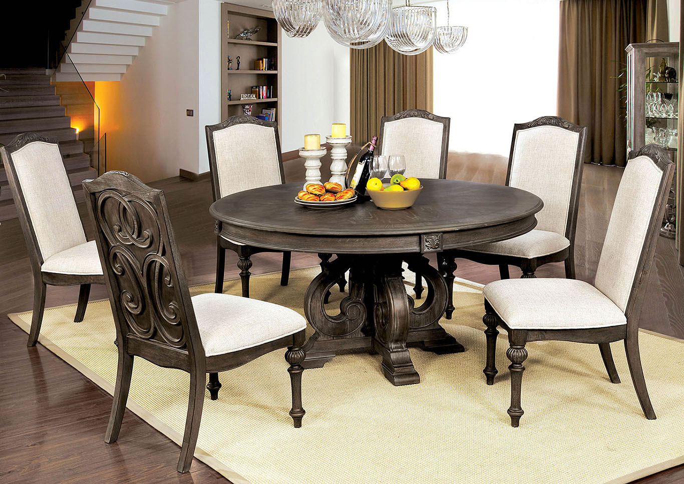 Dream Decor – Furniture – Springfield – Ma Arcadia Rustic Natural Intended For Recent Springfield 3 Piece Dining Sets (Photo 3 of 20)