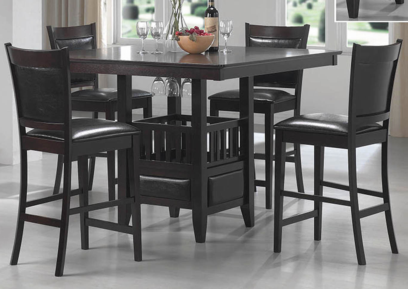 Dream Decor – Furniture – Springfield – Ma Jaden Espresso Counter Table Regarding Newest Springfield 3 Piece Dining Sets (View 8 of 20)