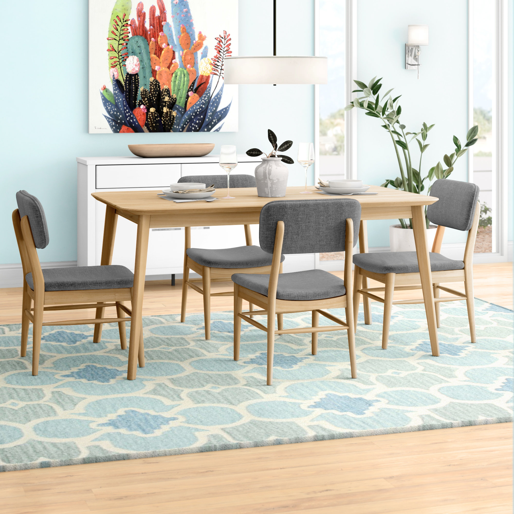 Drumadried 5 Piece Dining Set For Newest Telauges 5 Piece Dining Sets (View 3 of 20)