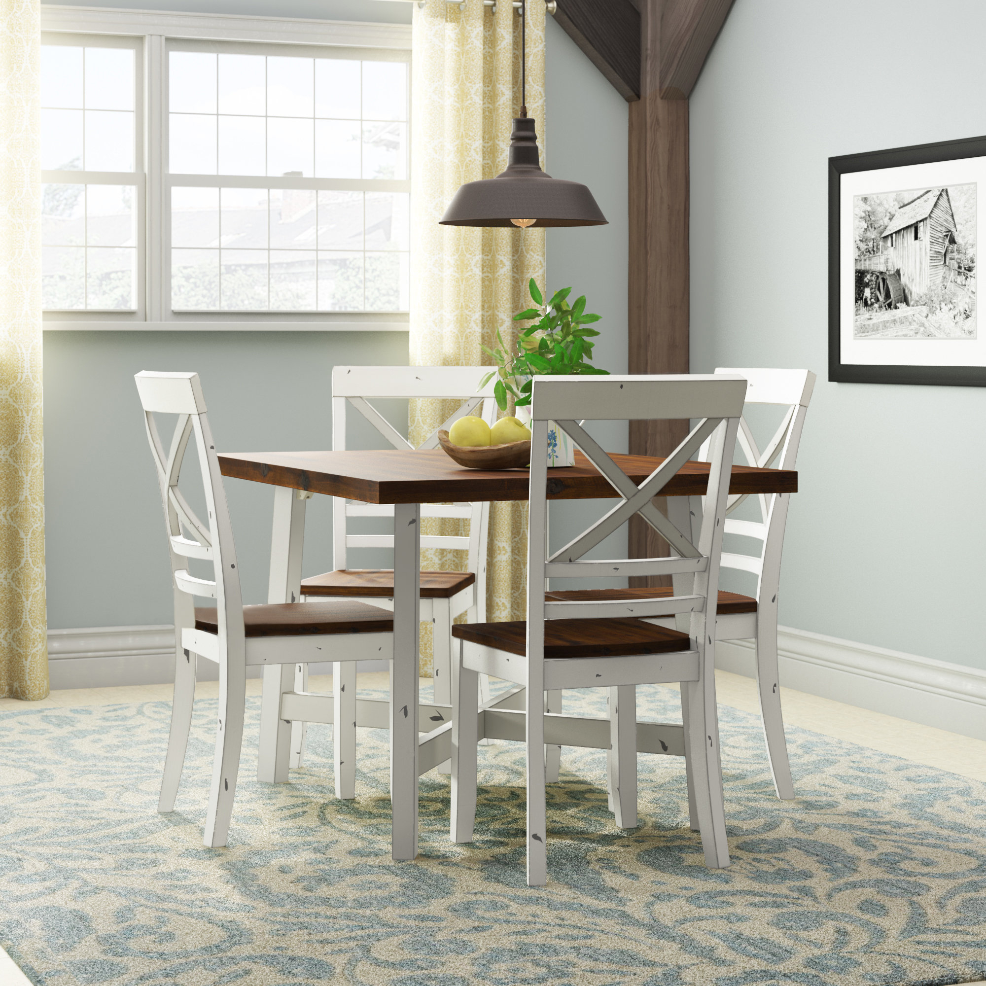 Dunnes 5 Piece Dining Set With Newest Liles 5 Piece Breakfast Nook Dining Sets (Image 7 of 20)