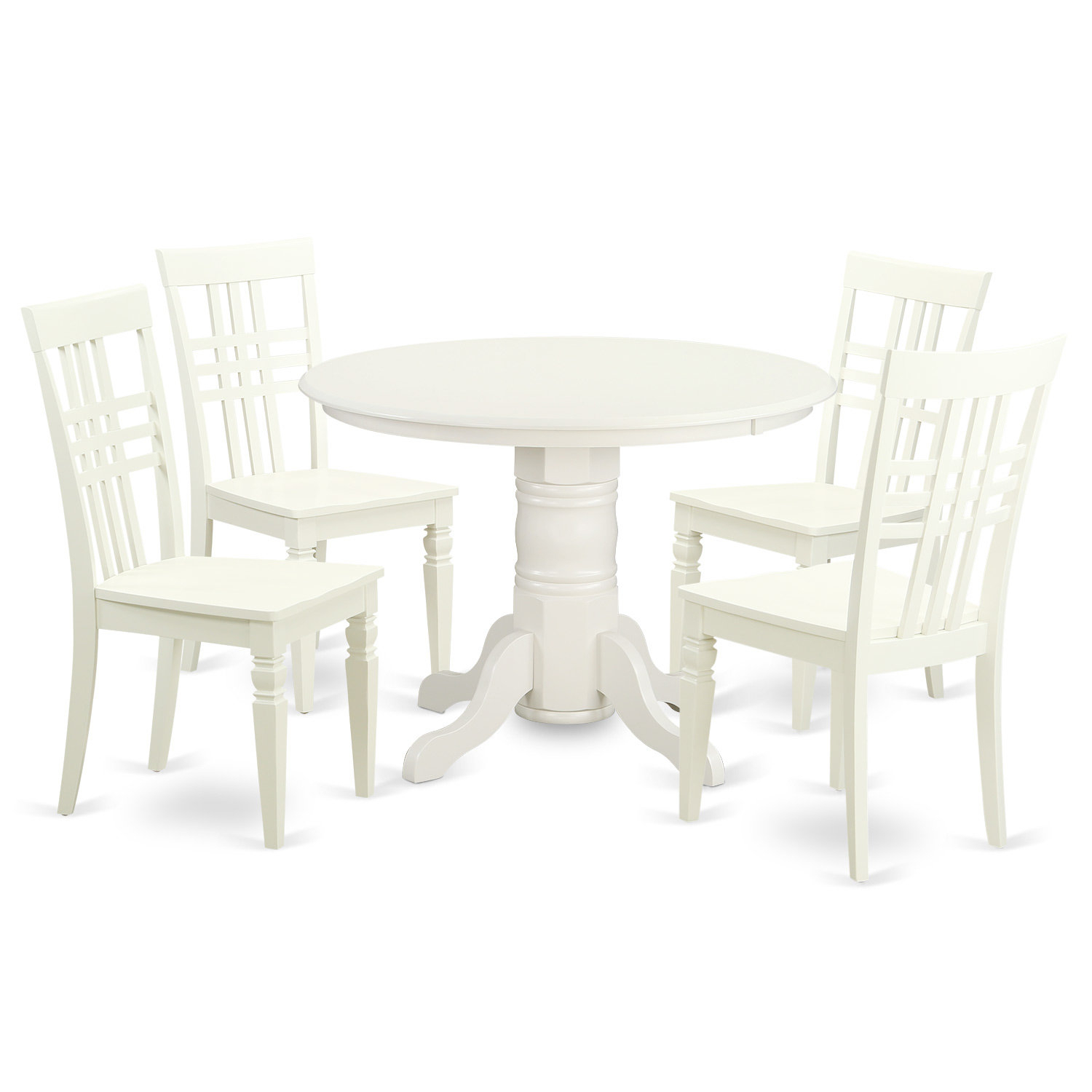 East West Furniture 5 Piece Dining Set Pertaining To Newest Lamotte 5 Piece Dining Sets (Image 6 of 20)